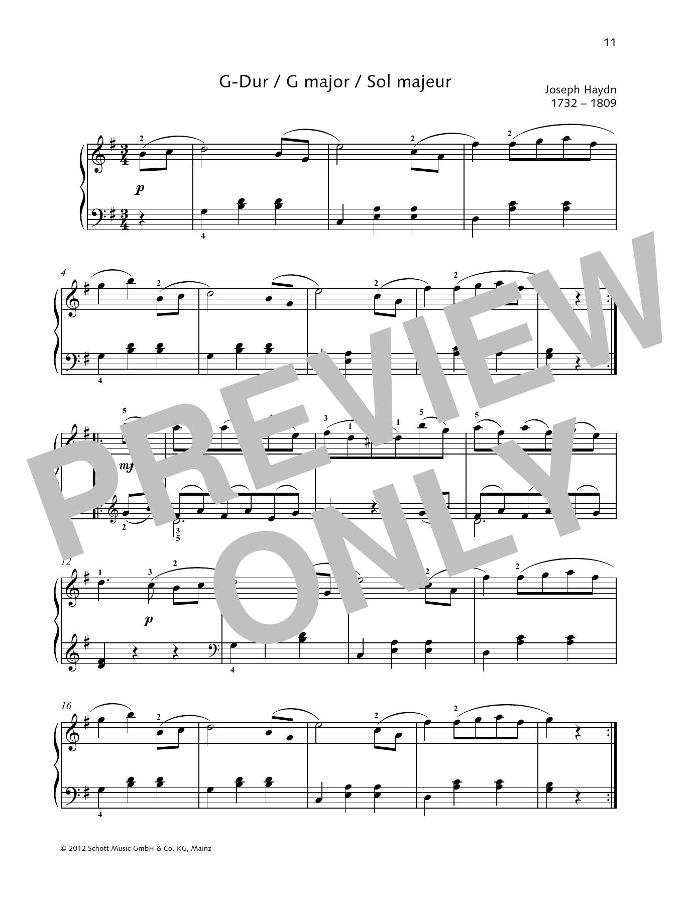 German Dance G major Sheet Music