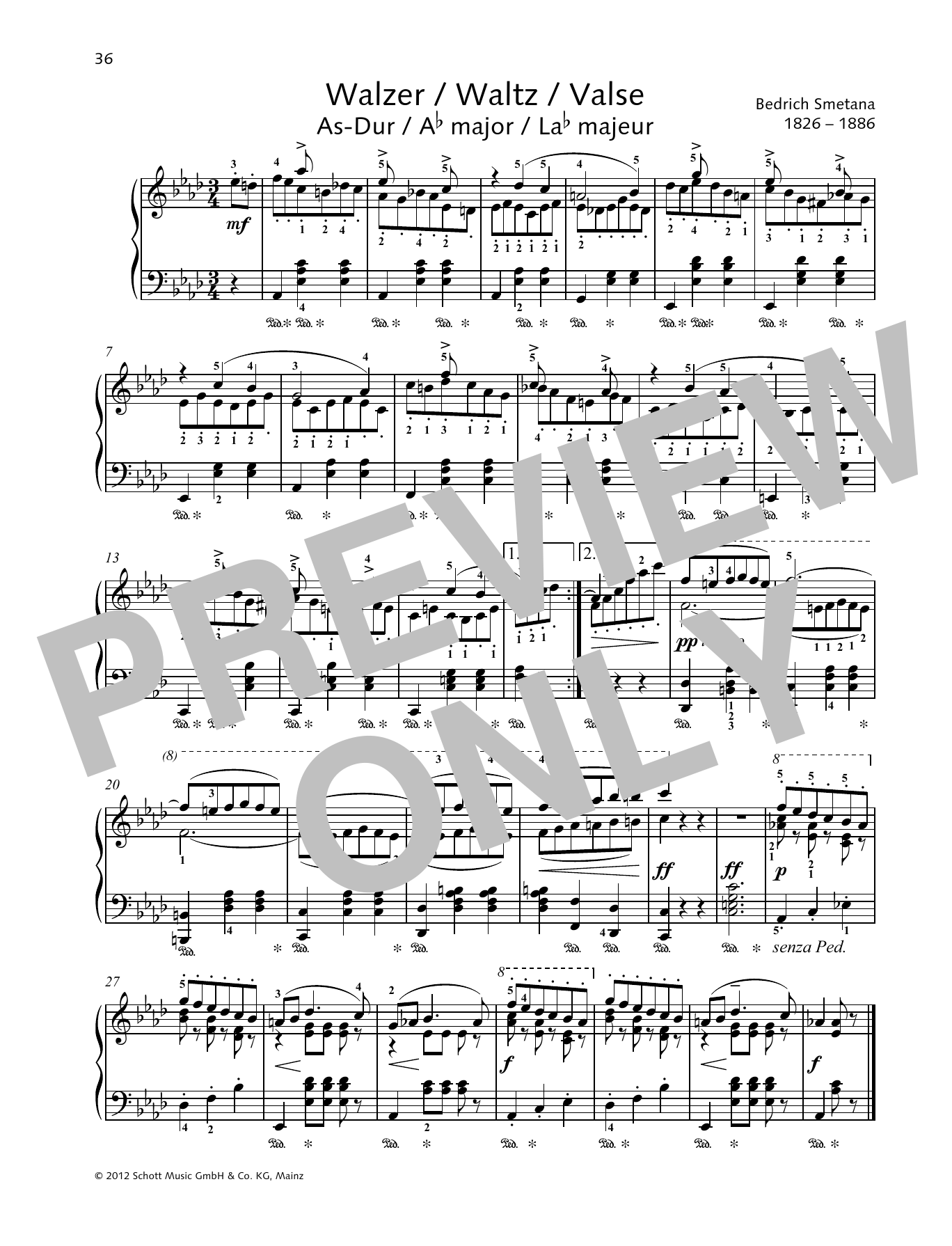Waltz A-flat major Digitale Noten