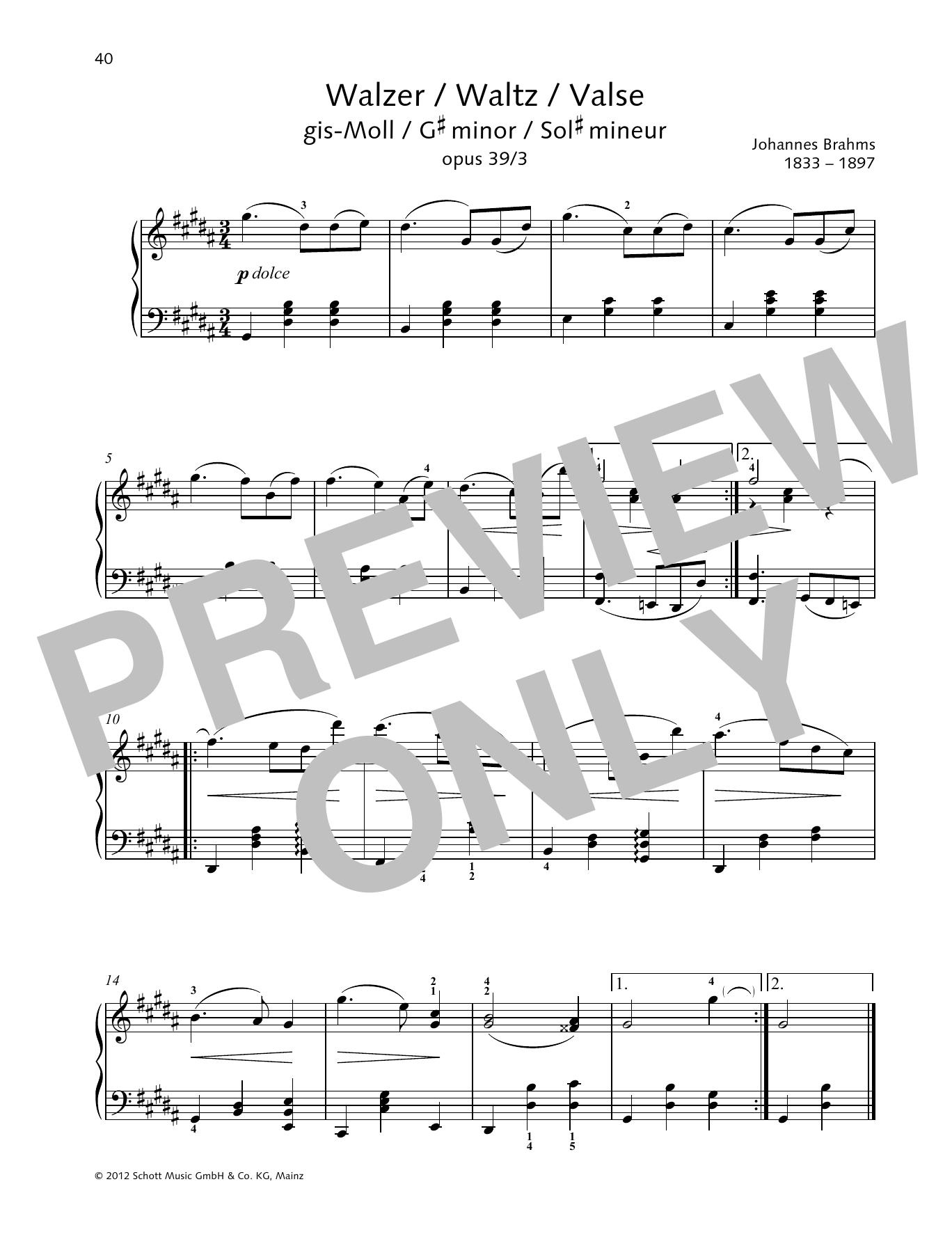 Waltz G-sharp minor Sheet Music