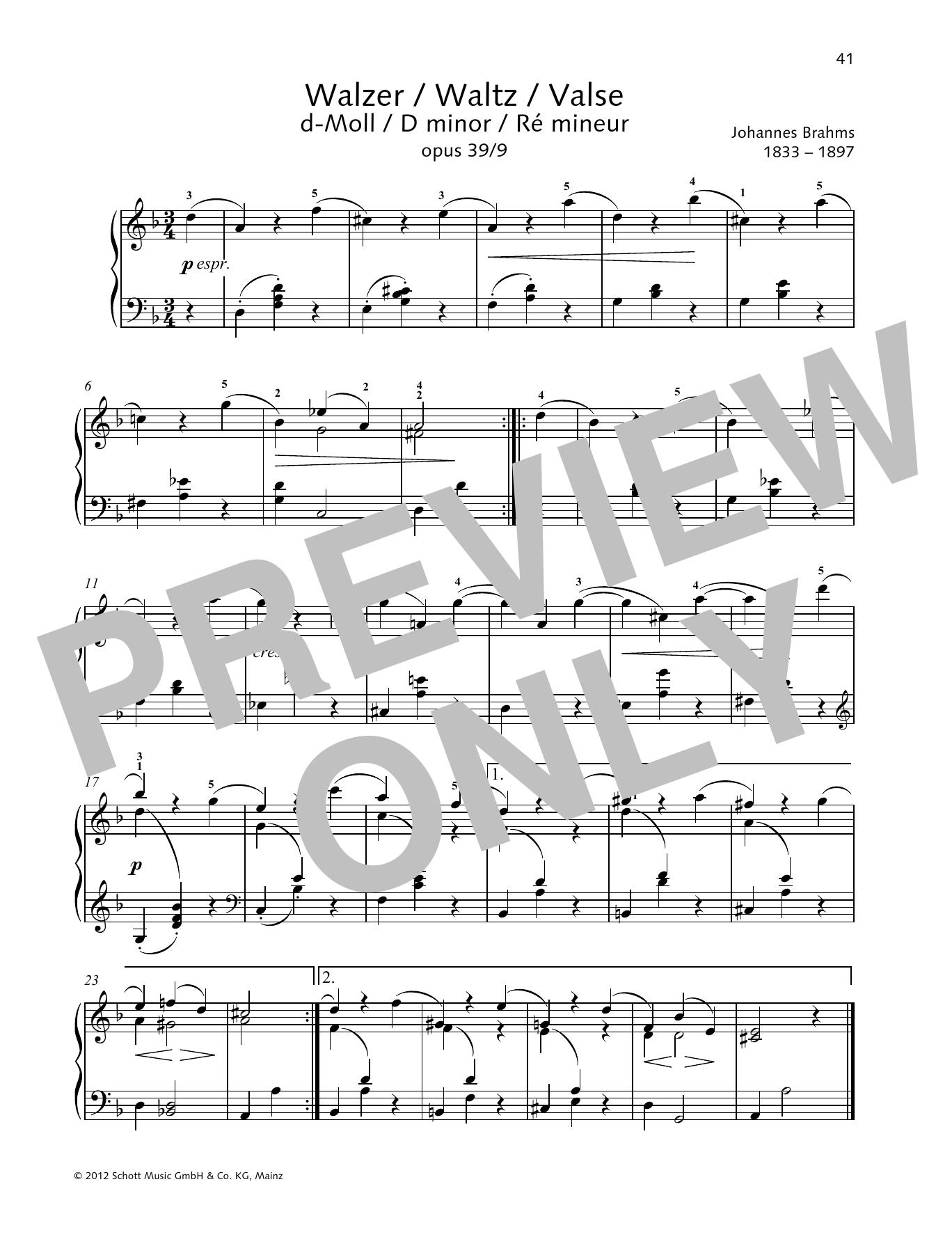 Waltz D minor Sheet Music