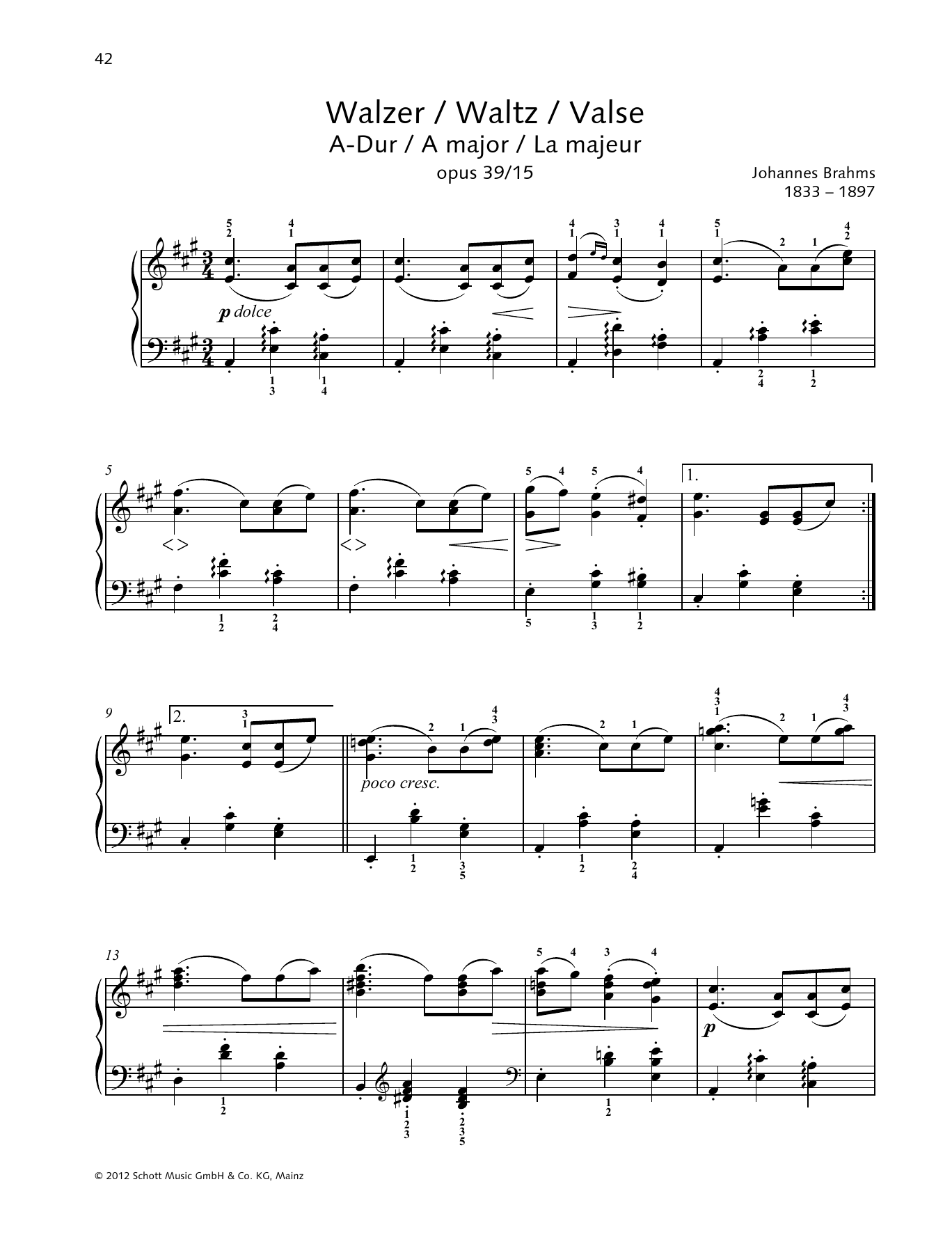 Waltz A major Sheet Music