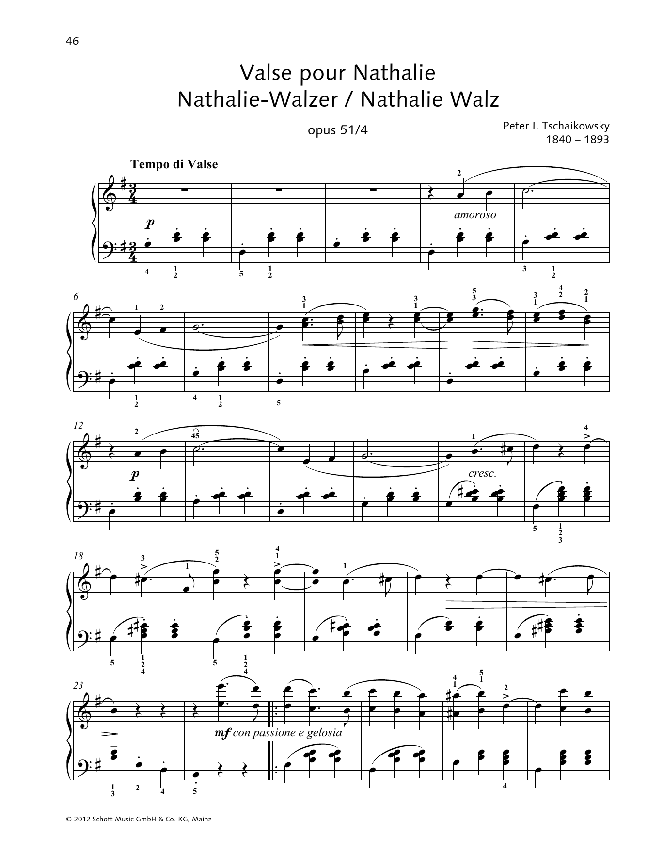 Nathalie Waltz Sheet Music