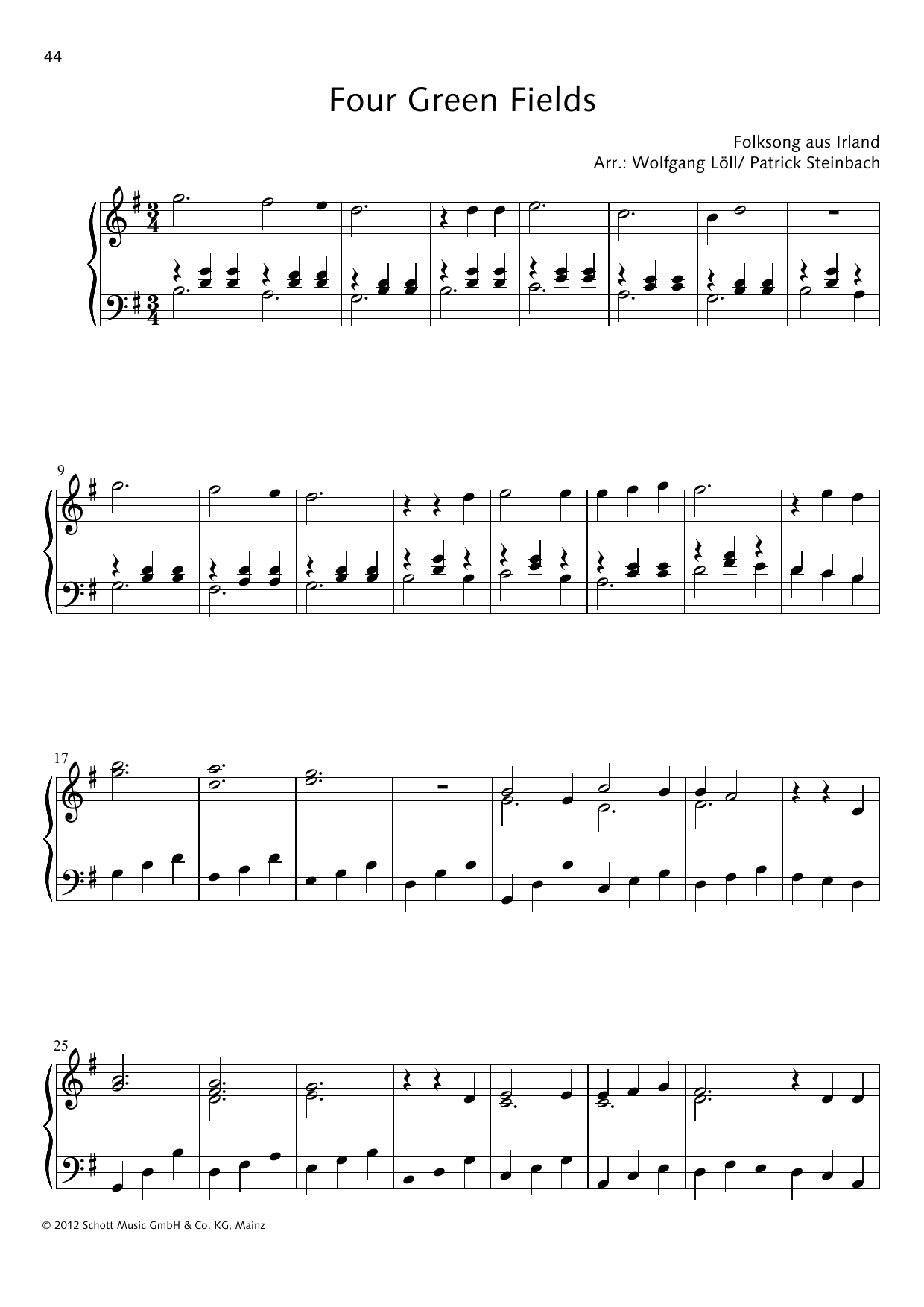 Four Green Fields Sheet Music