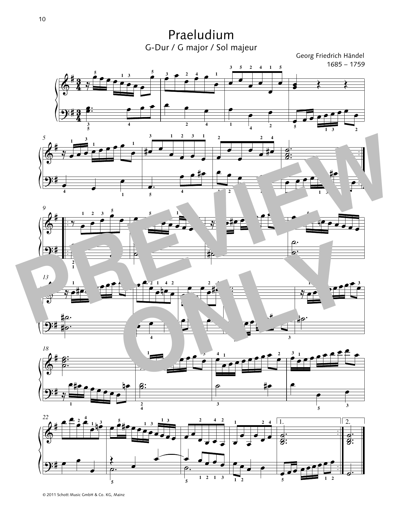 Prelude G major Sheet Music