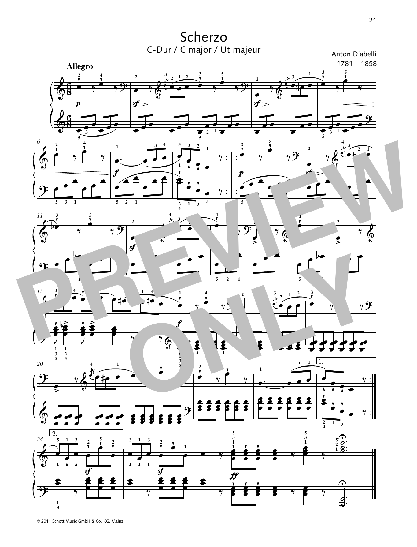 Scherzo C major Sheet Music
