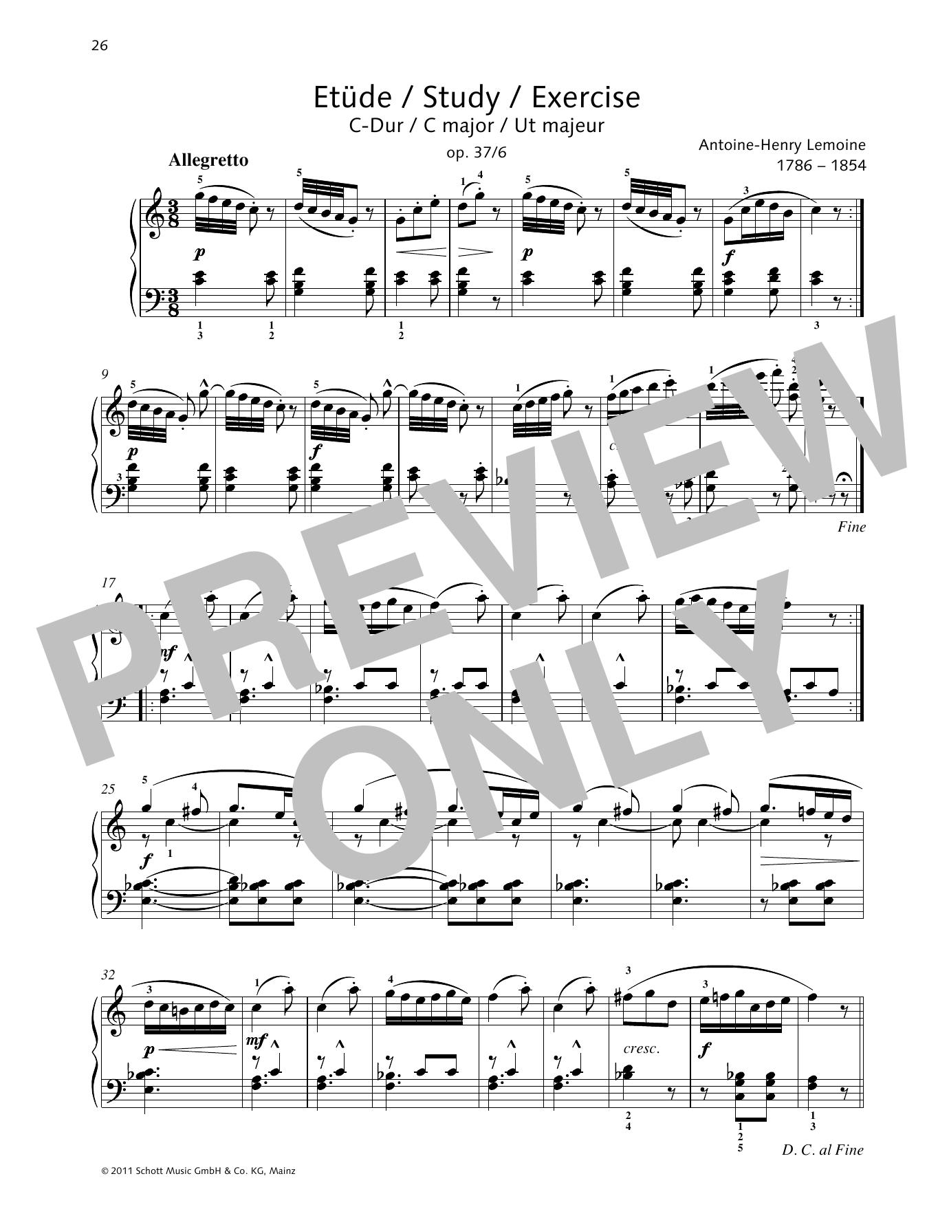 Study C major Sheet Music