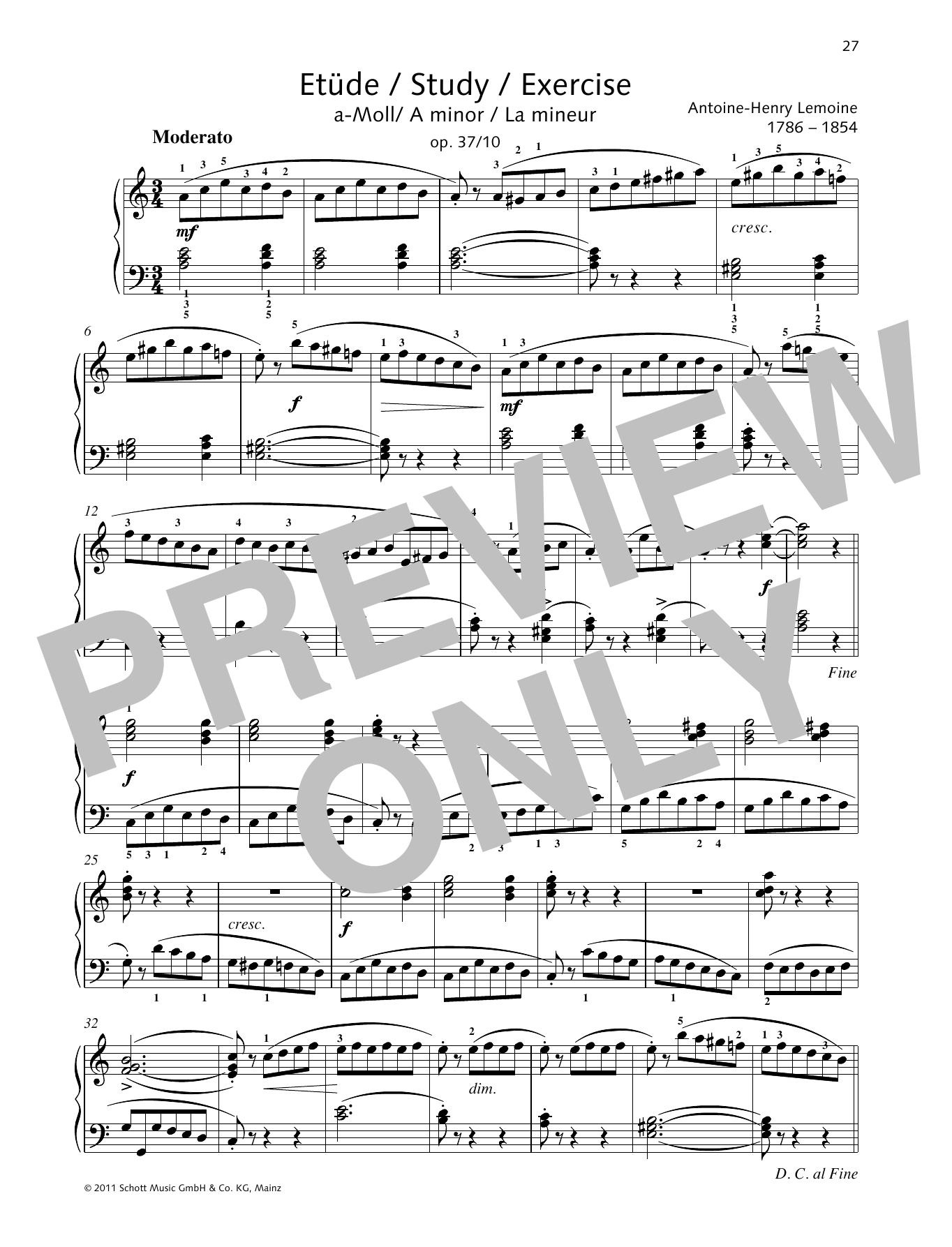Study A minor Sheet Music