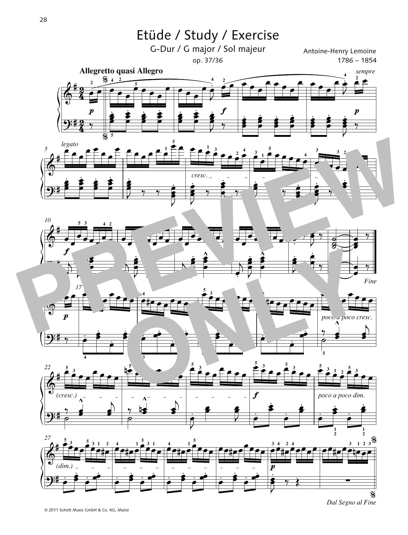 Study G major Sheet Music
