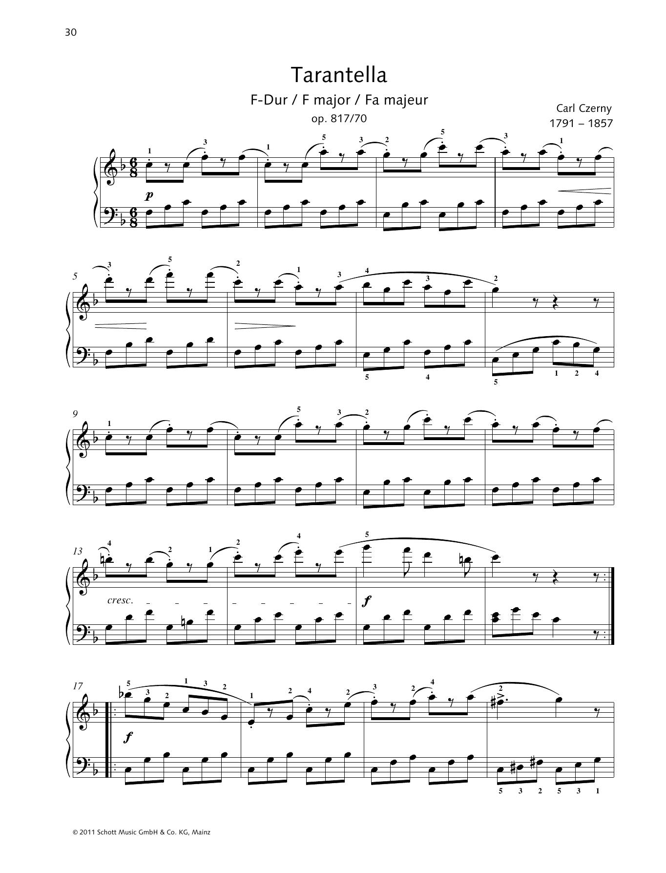 Tarantella F major Sheet Music