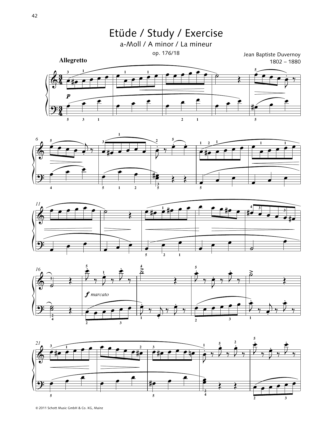 Study A minor Sheet Music