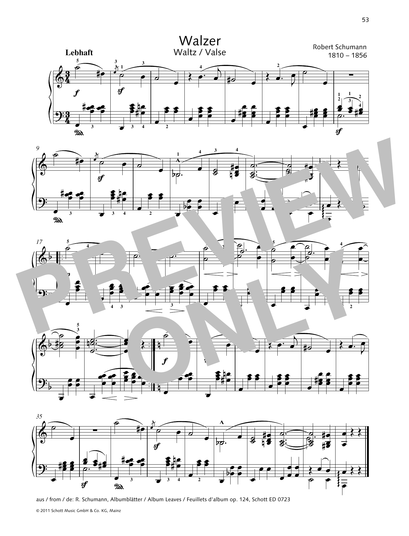 Waltz Sheet Music