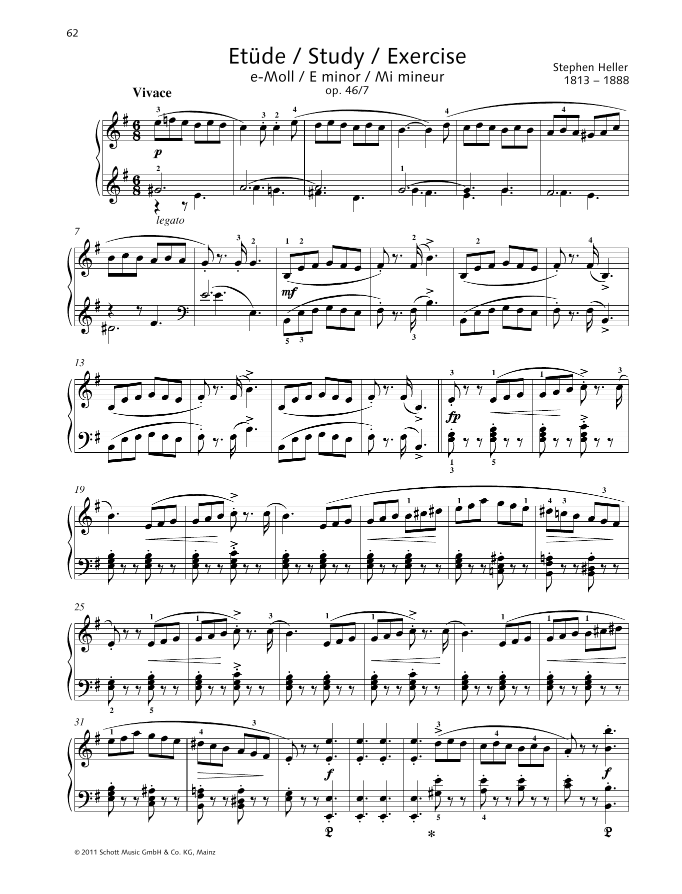 Study E minor Sheet Music