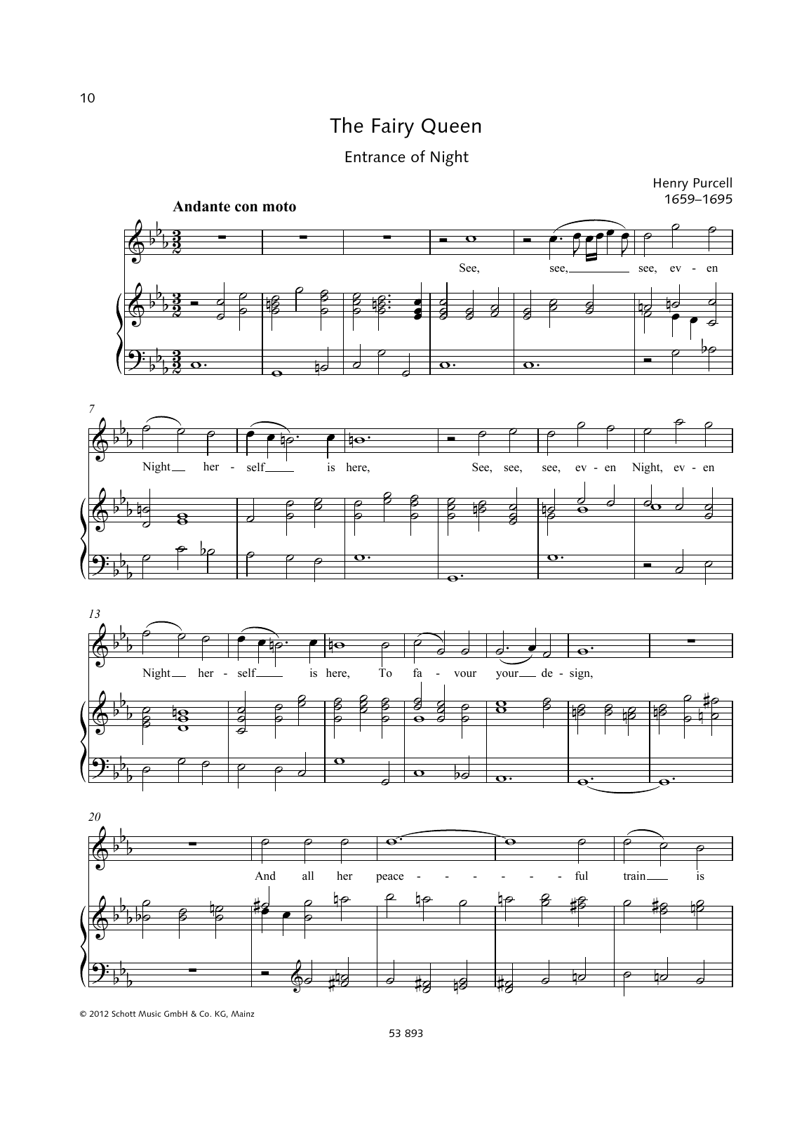 See, Even Night herself is here Sheet Music