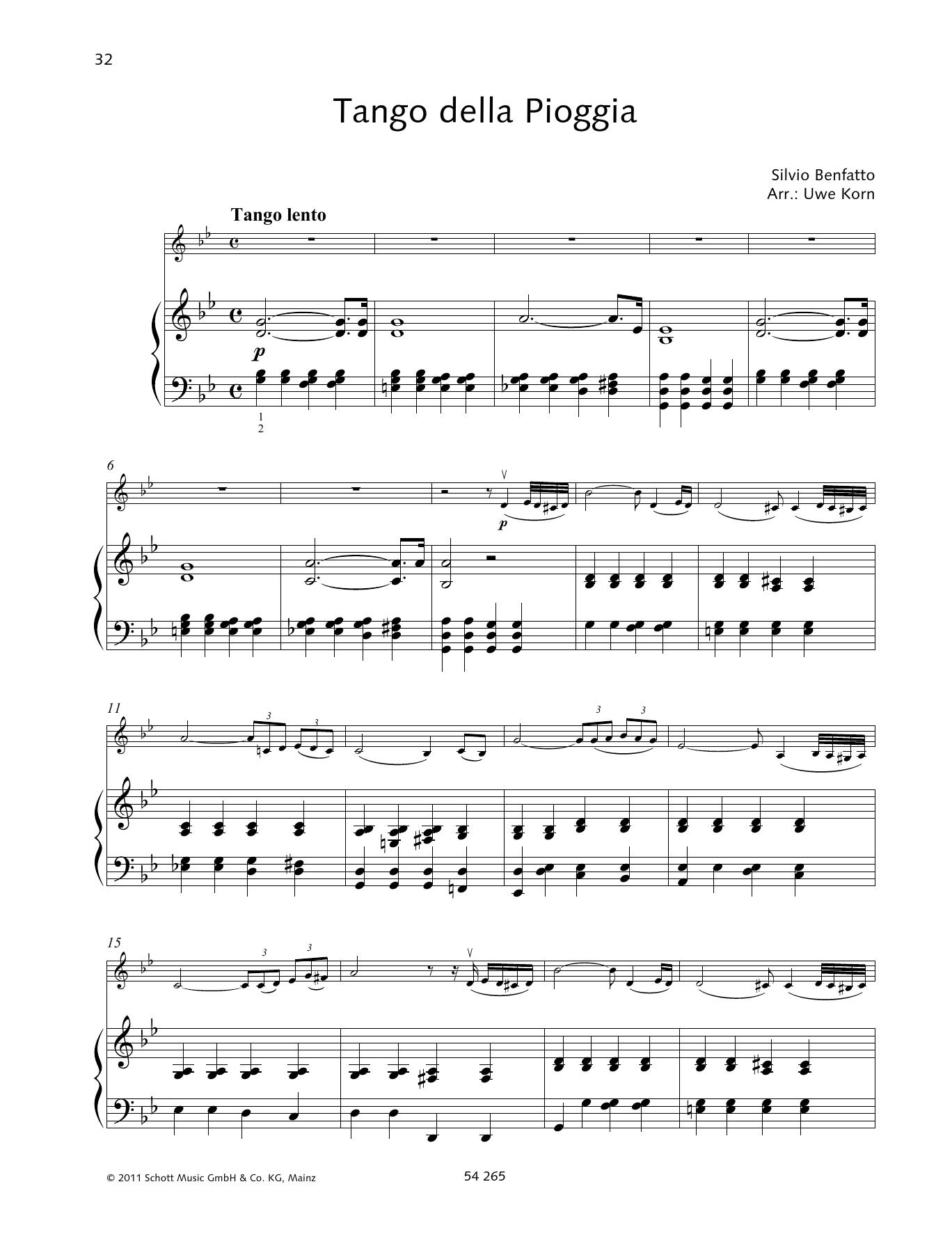 Tango della Piogga Sheet Music