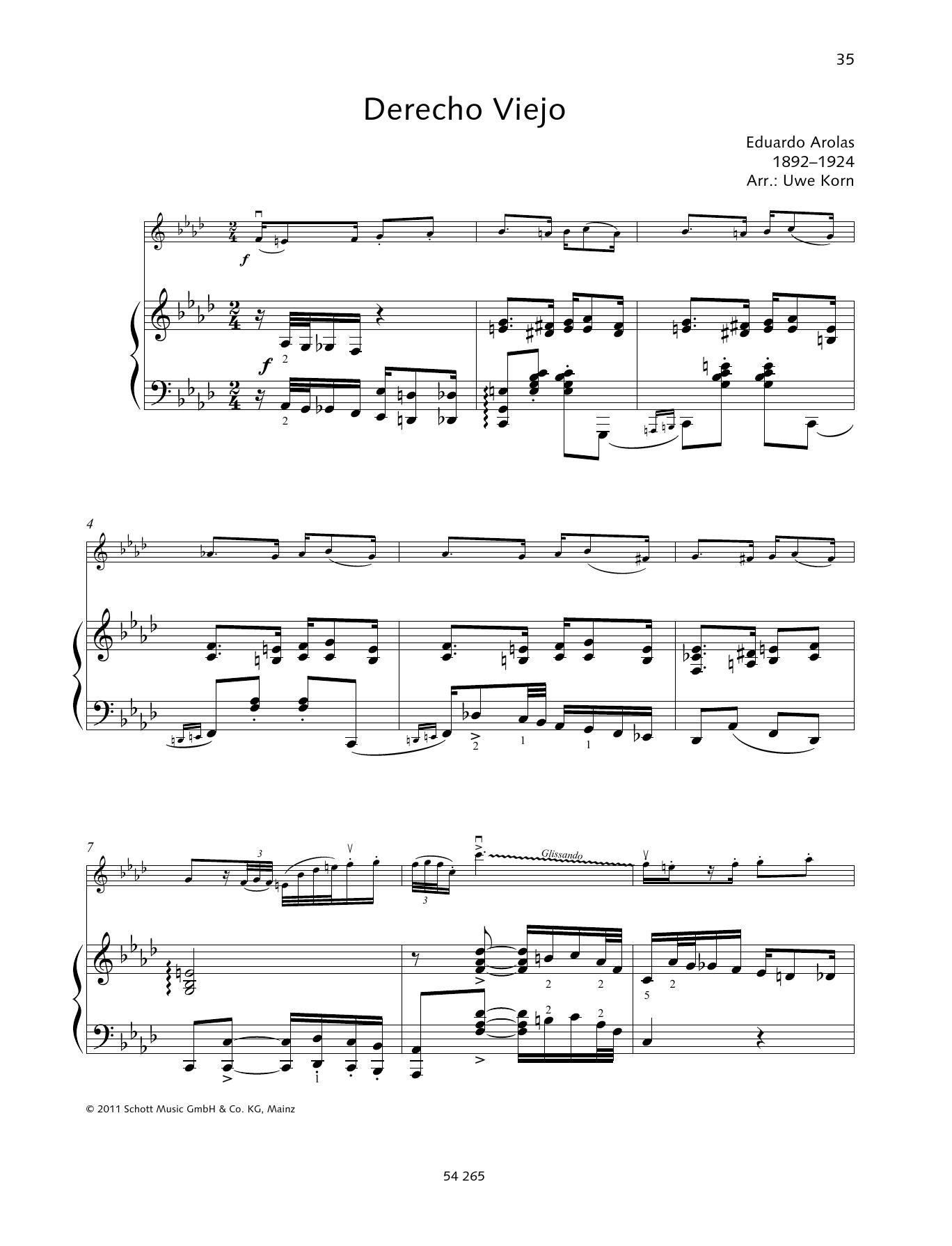 Derecho Viejo Sheet Music