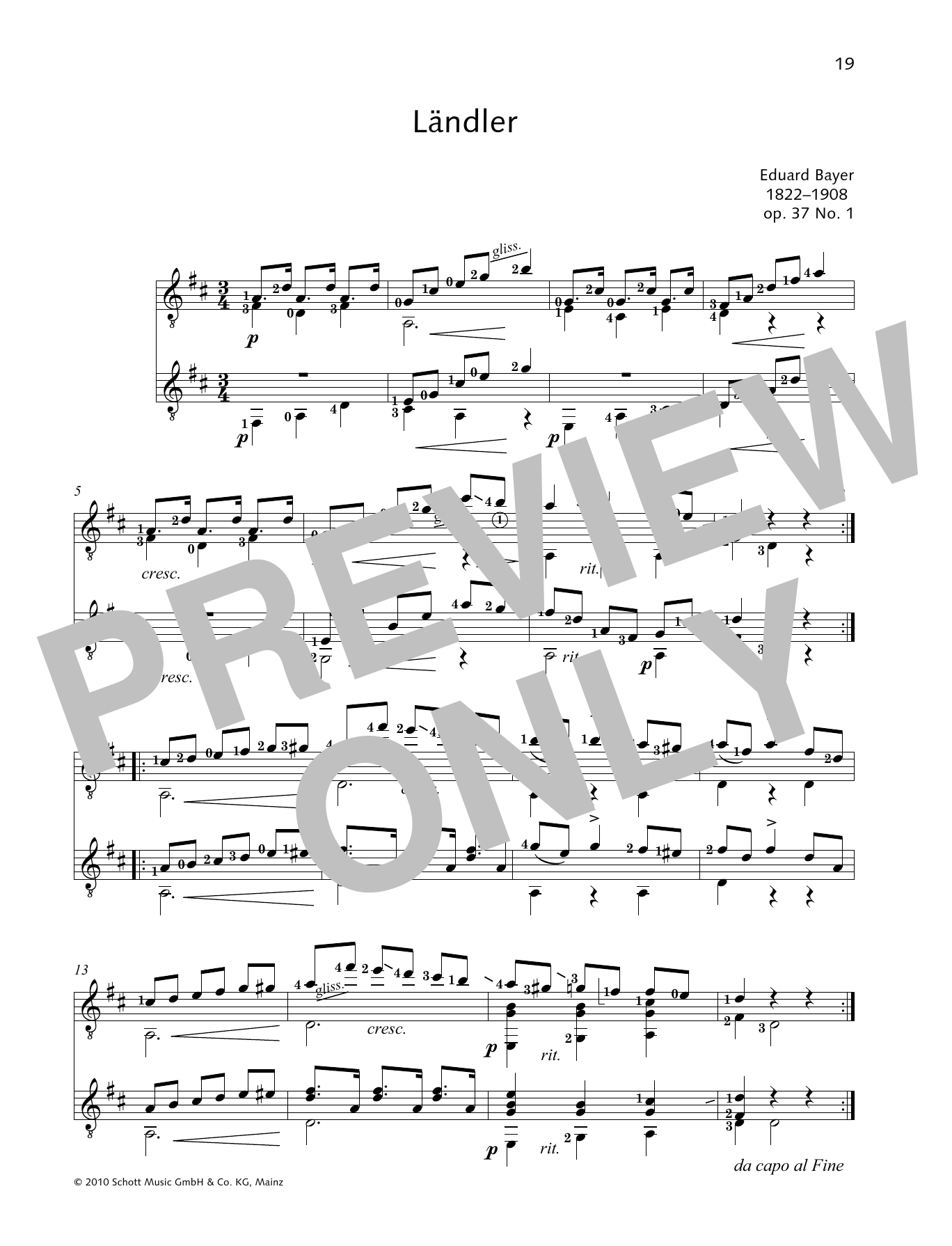 Landler - Full Score Sheet Music