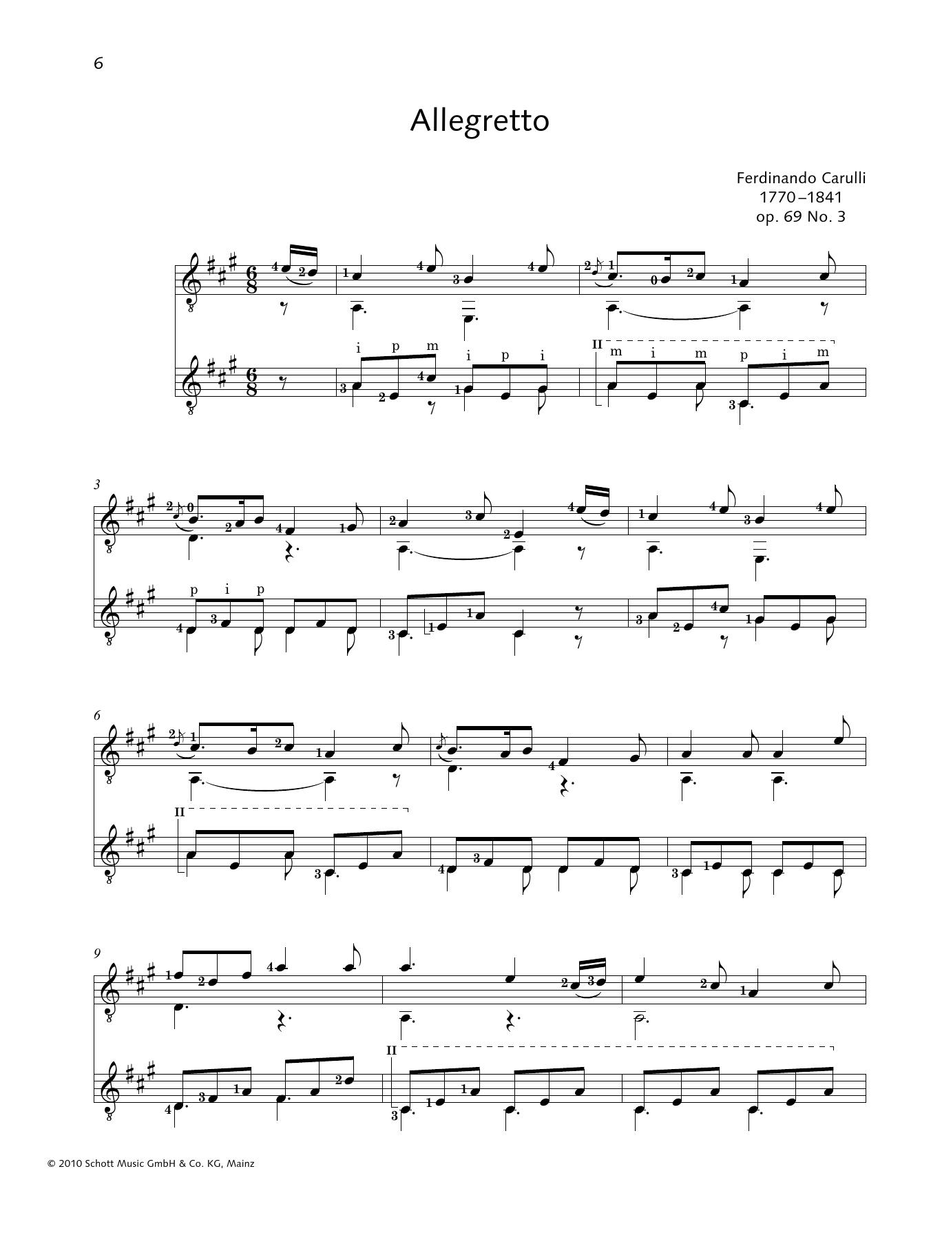 Allegretto - Full Score Sheet Music