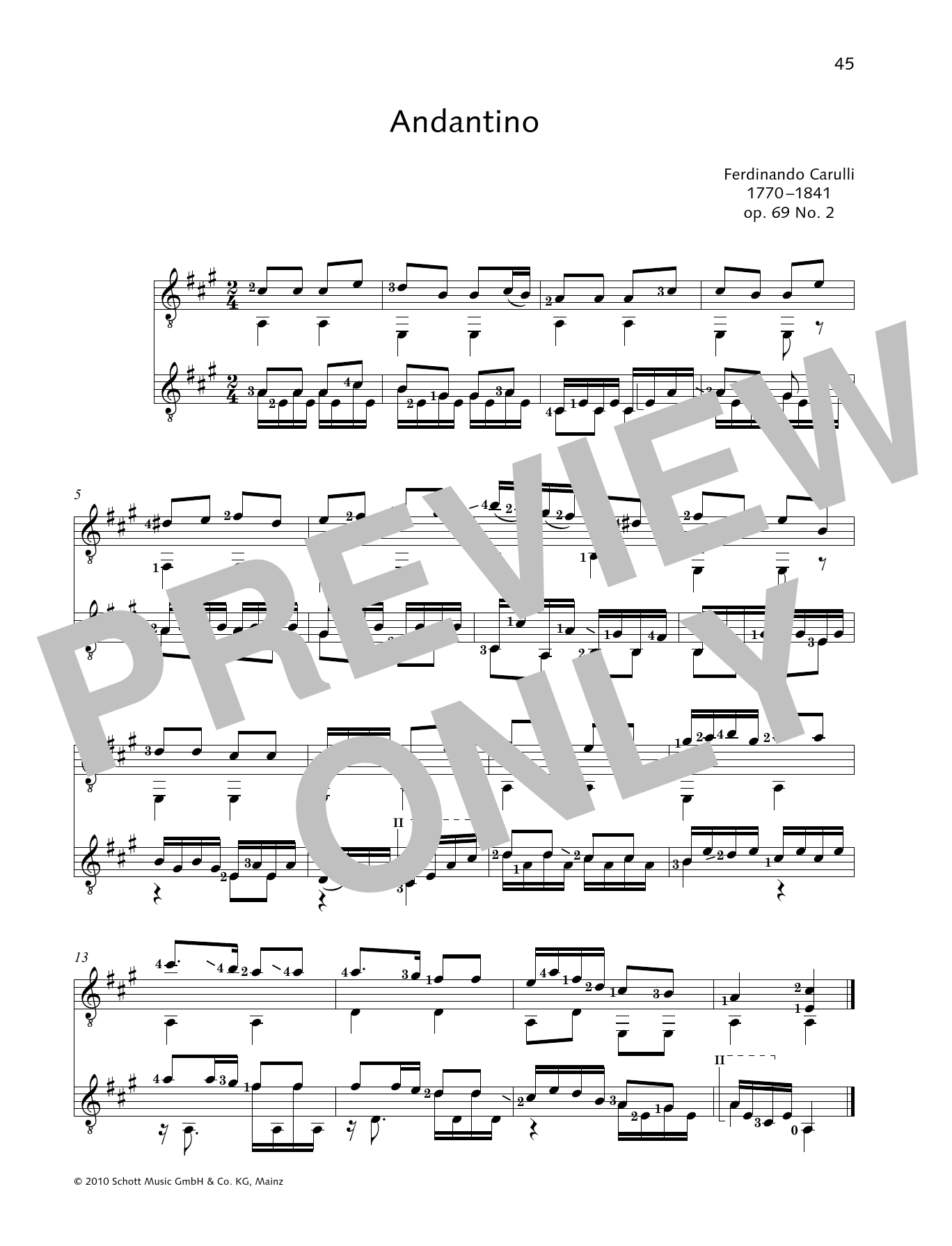 Andantino - Full Score Partition Digitale