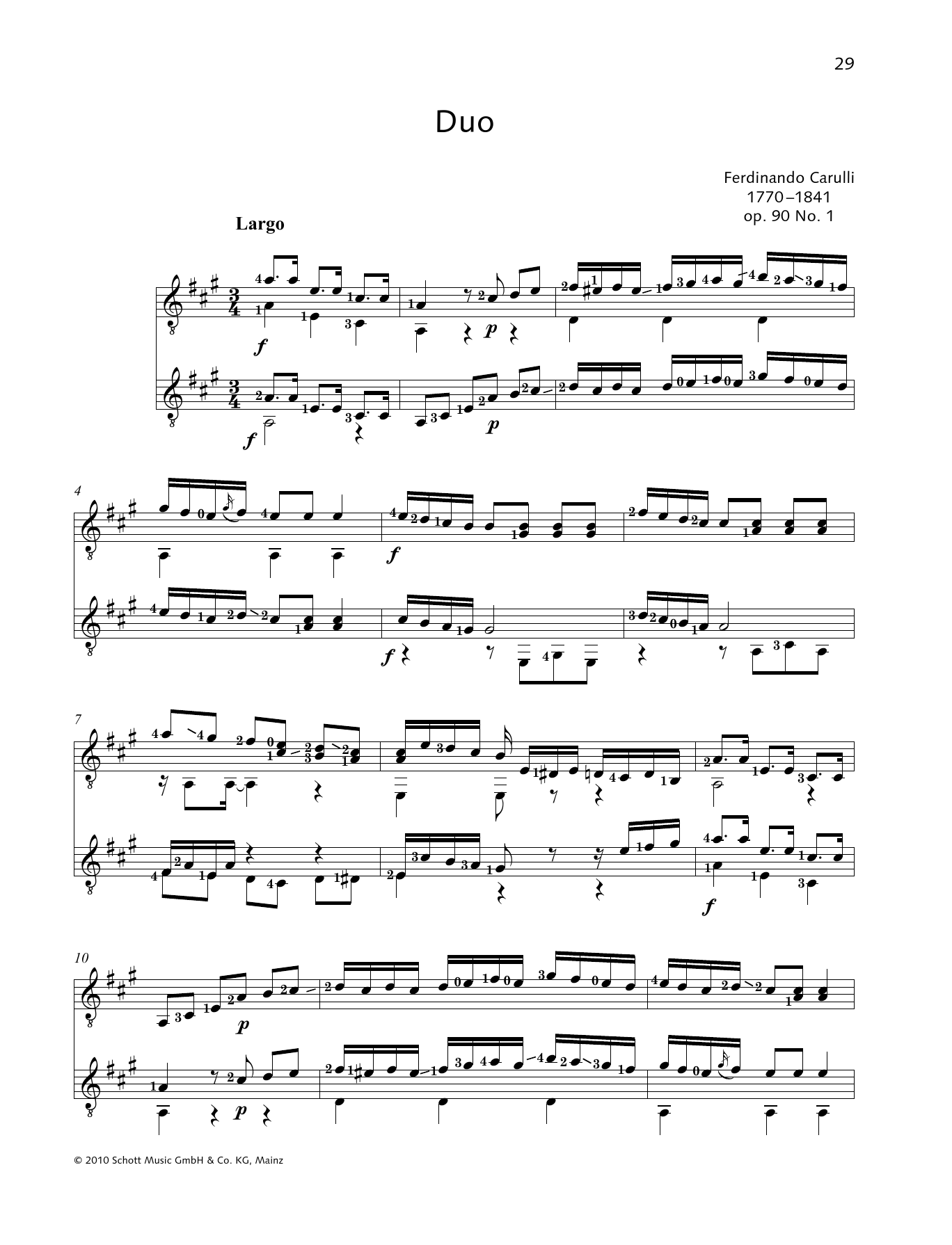 Duo - Full Score Sheet Music