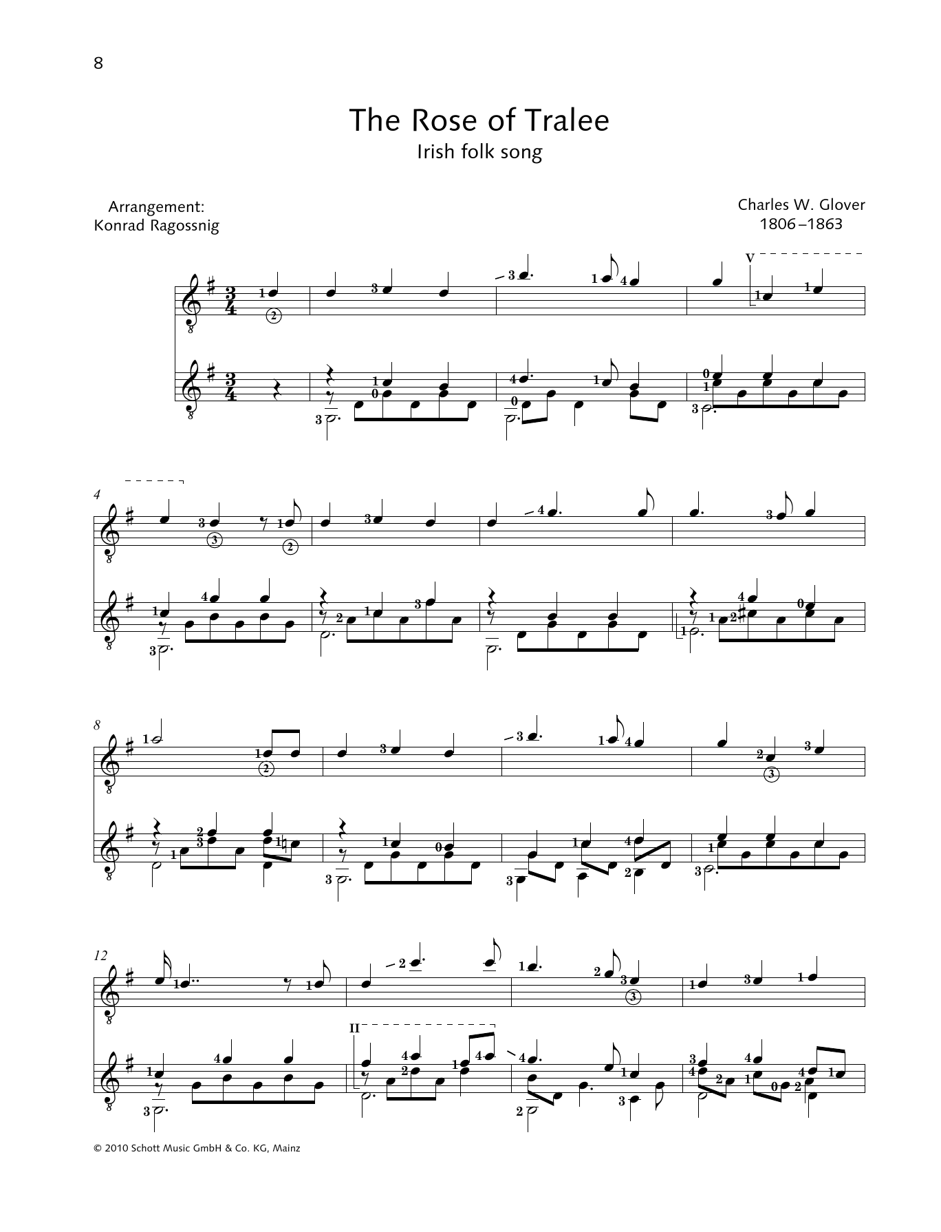 The Rose Of Tralee - Full Score Digitale Noten