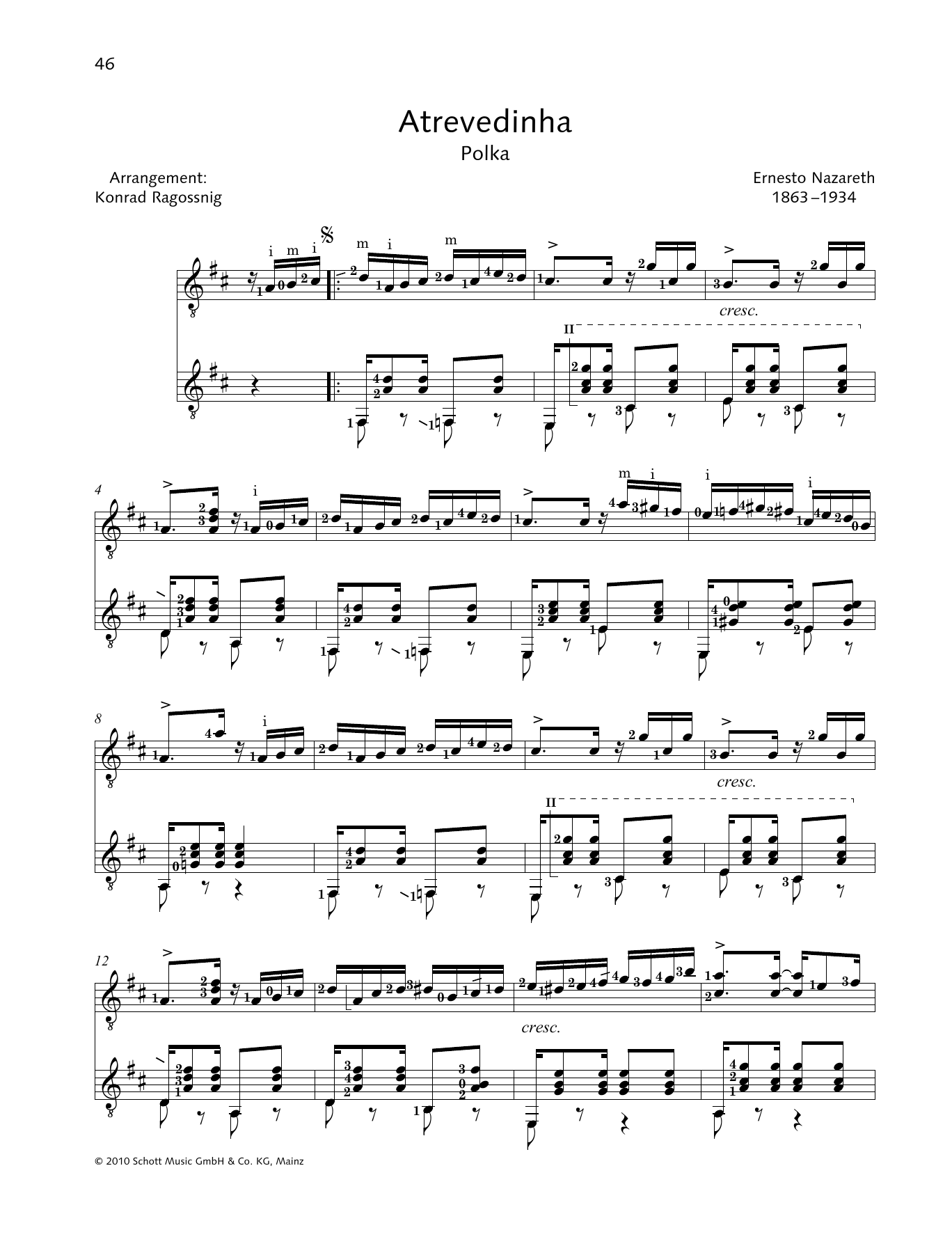 Atrevedinha - Full Score Sheet Music