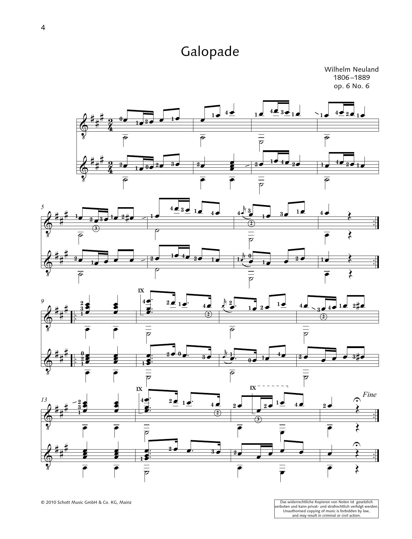Galopade - Full Score Sheet Music