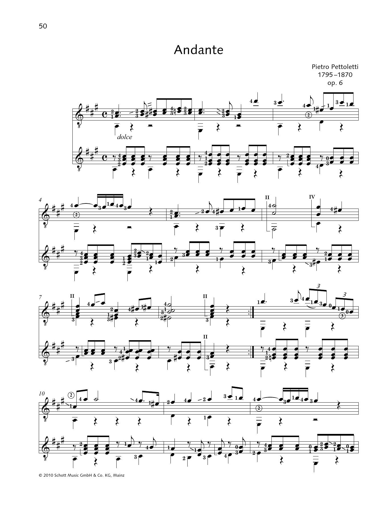 Andante - Full Score Sheet Music