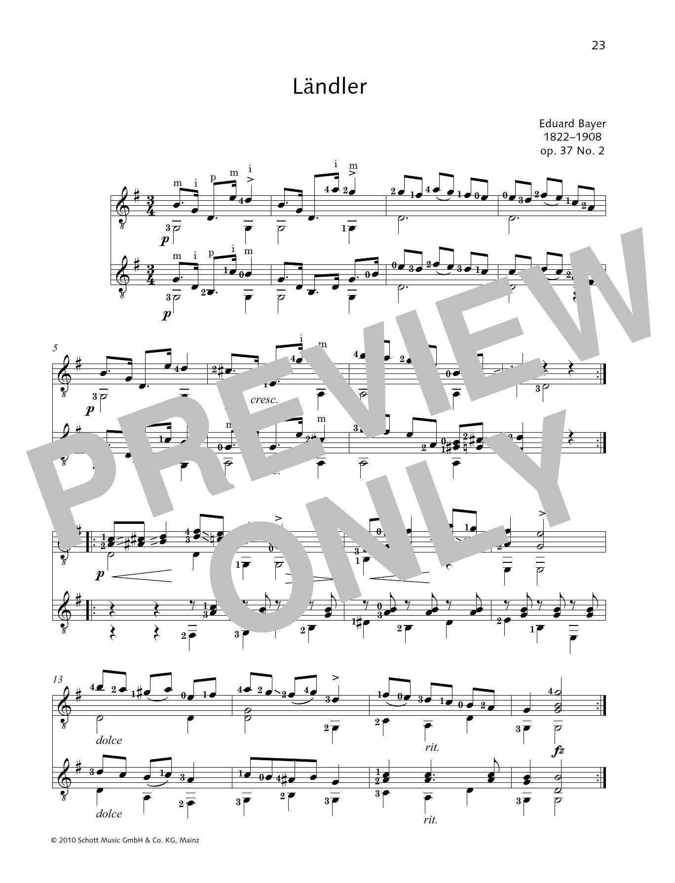 Landler - Full Score Sheet Music