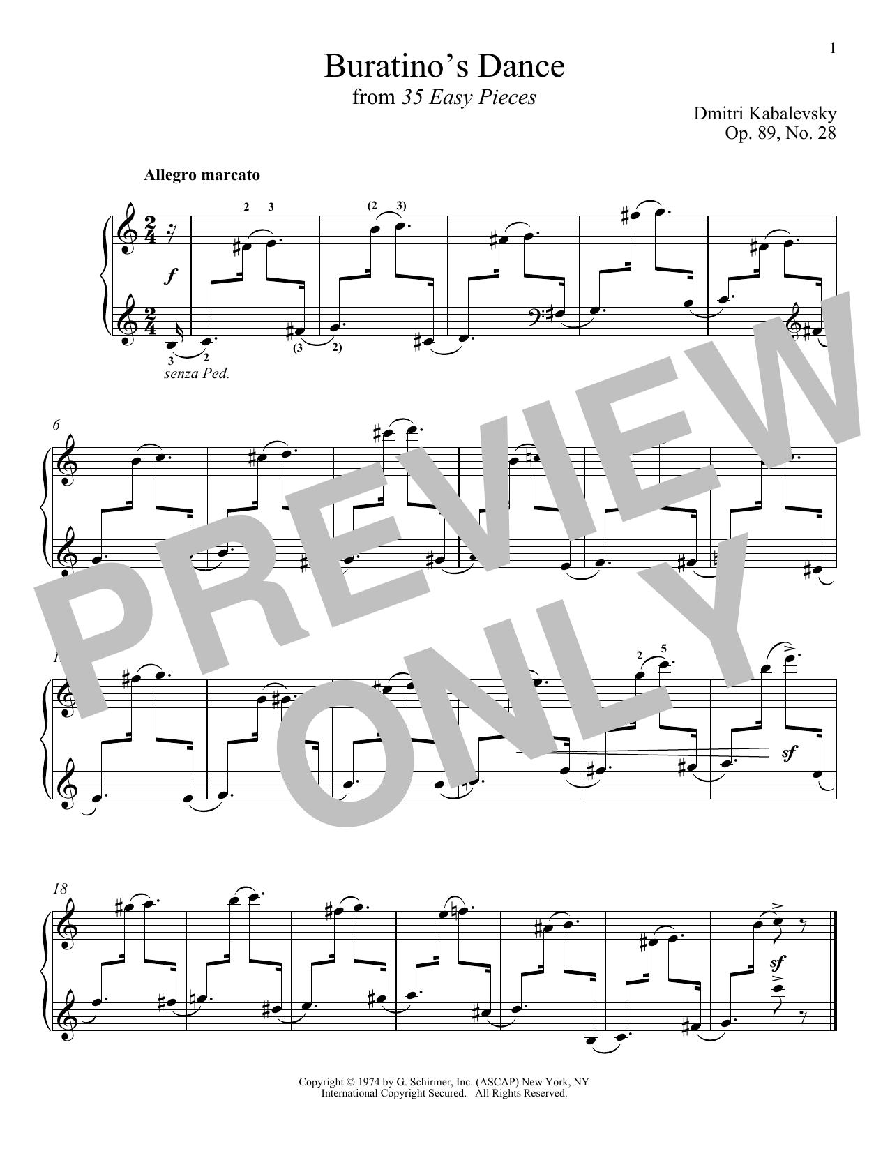 Buratino's Dance (Piano Solo)