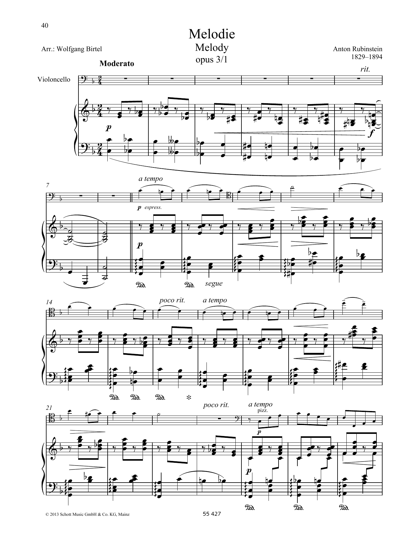 Melody Sheet Music