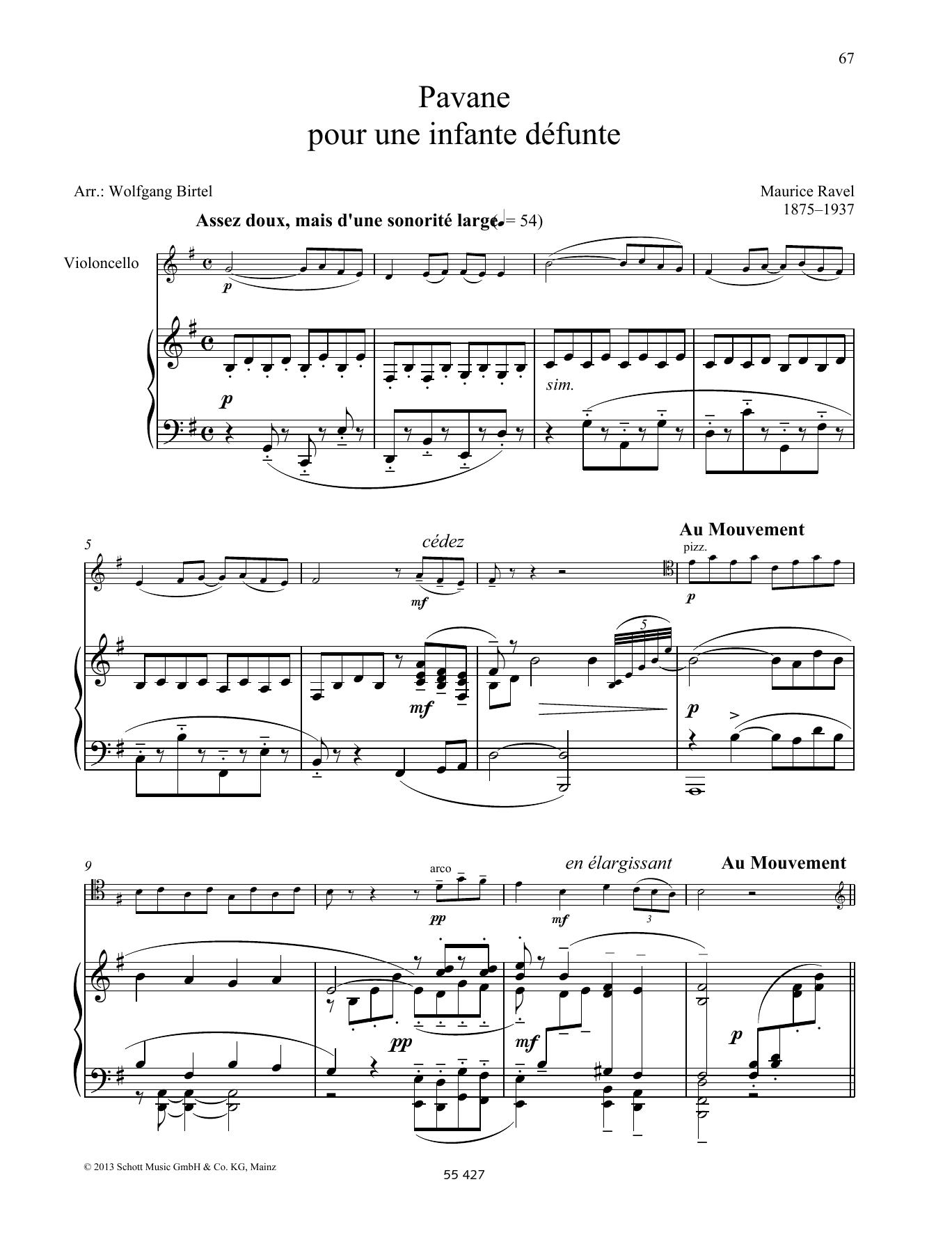 Pavane pour une Infante Défunte Sheet Music