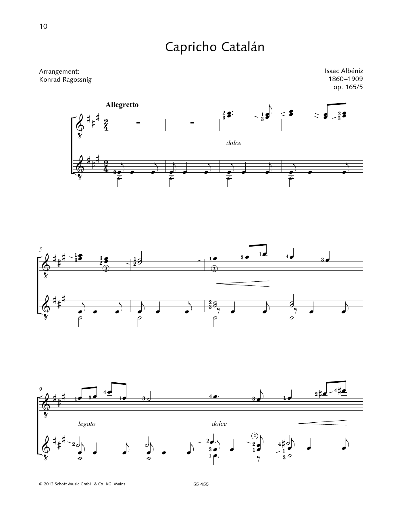 Capricho Catalšn - Full Score Sheet Music