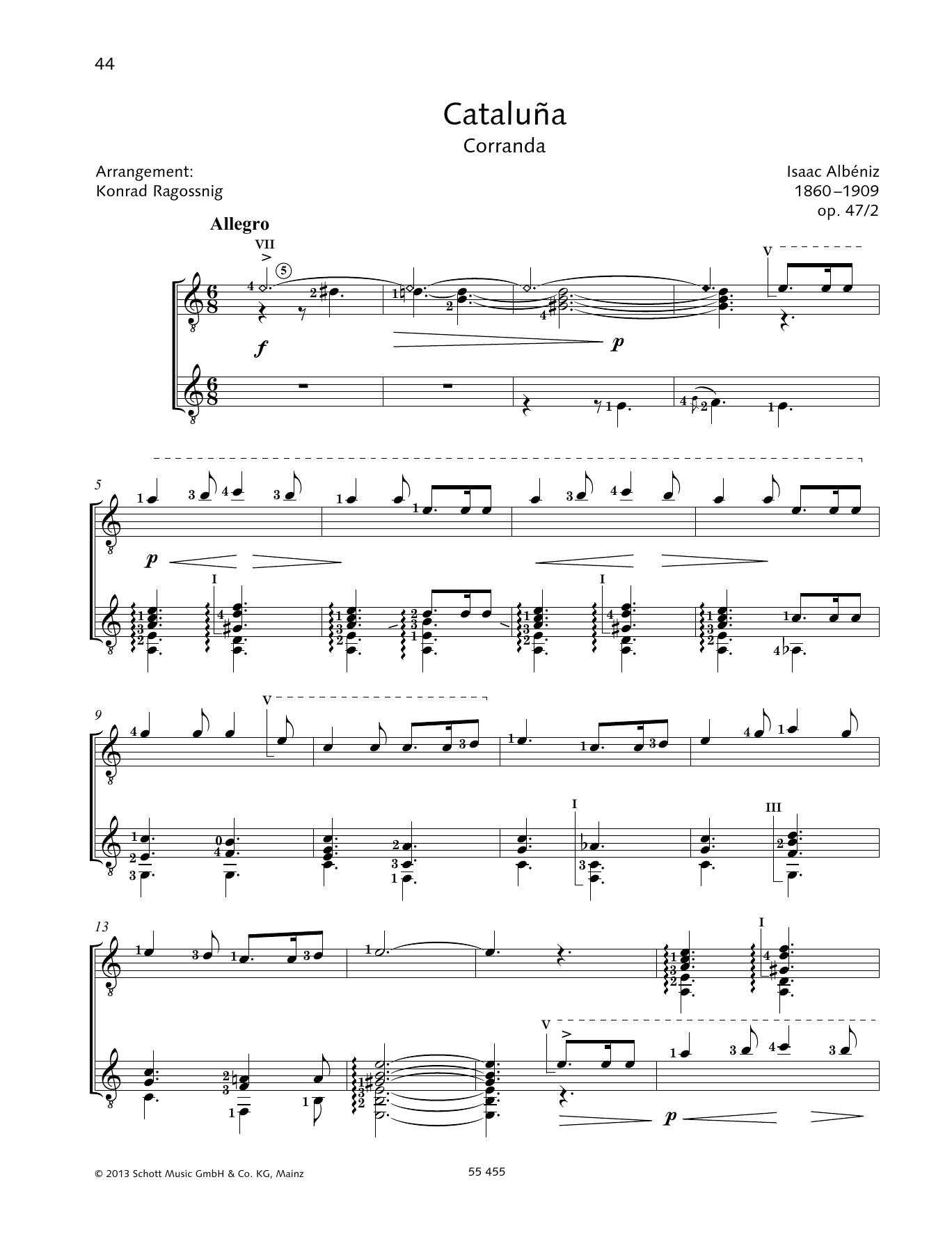 Cataluna (Corranda) - Full Score Sheet Music