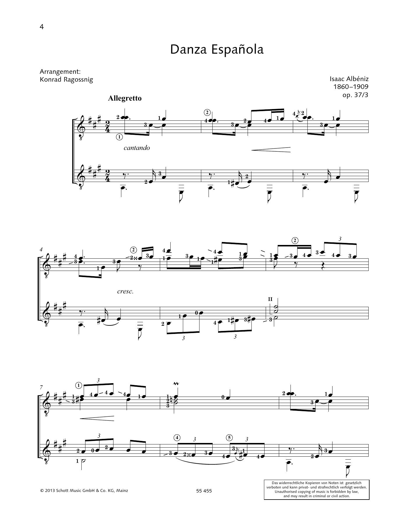 Danza Espanola - Full Score Sheet Music