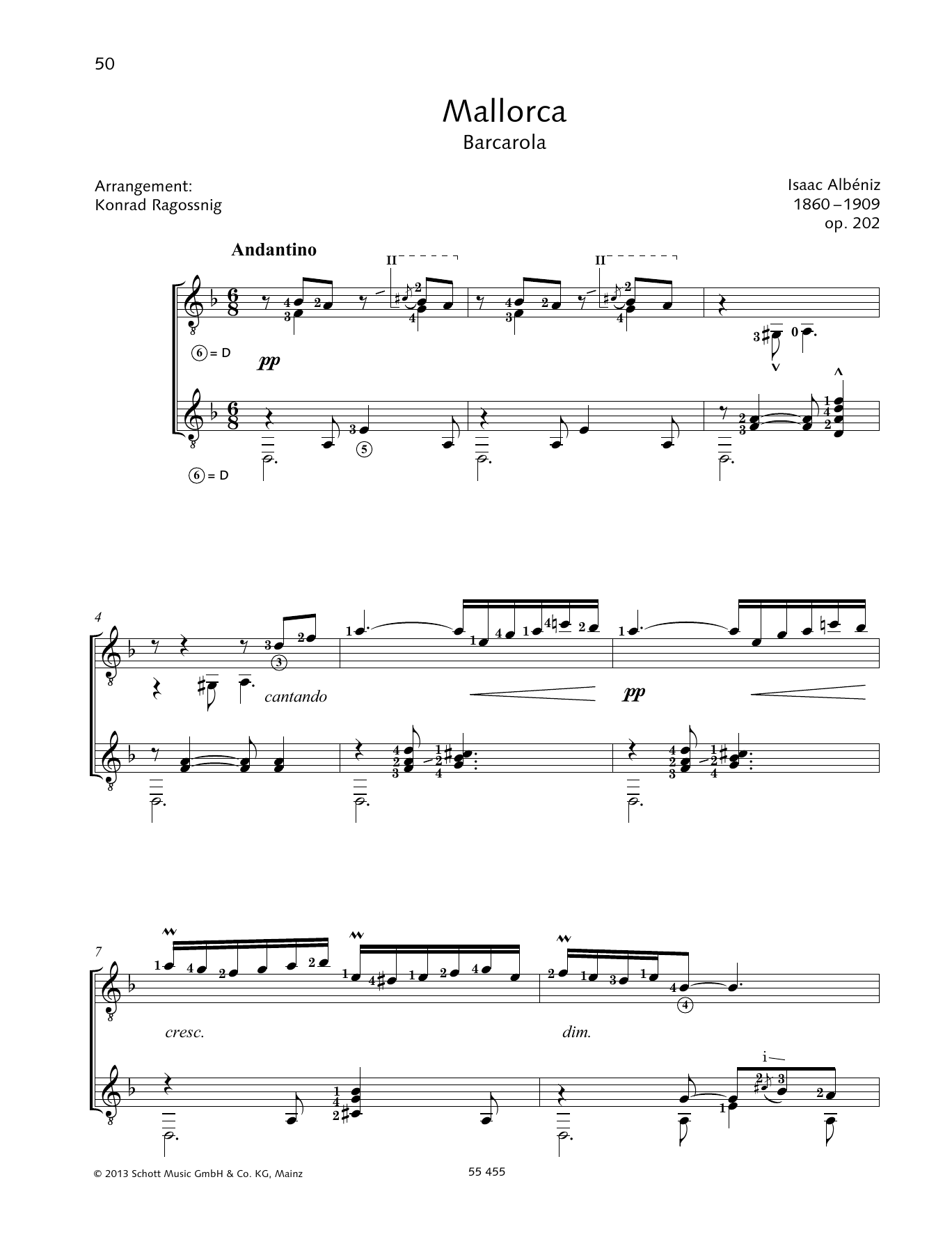 Mallorca (Barcarola) - Full Score Sheet Music