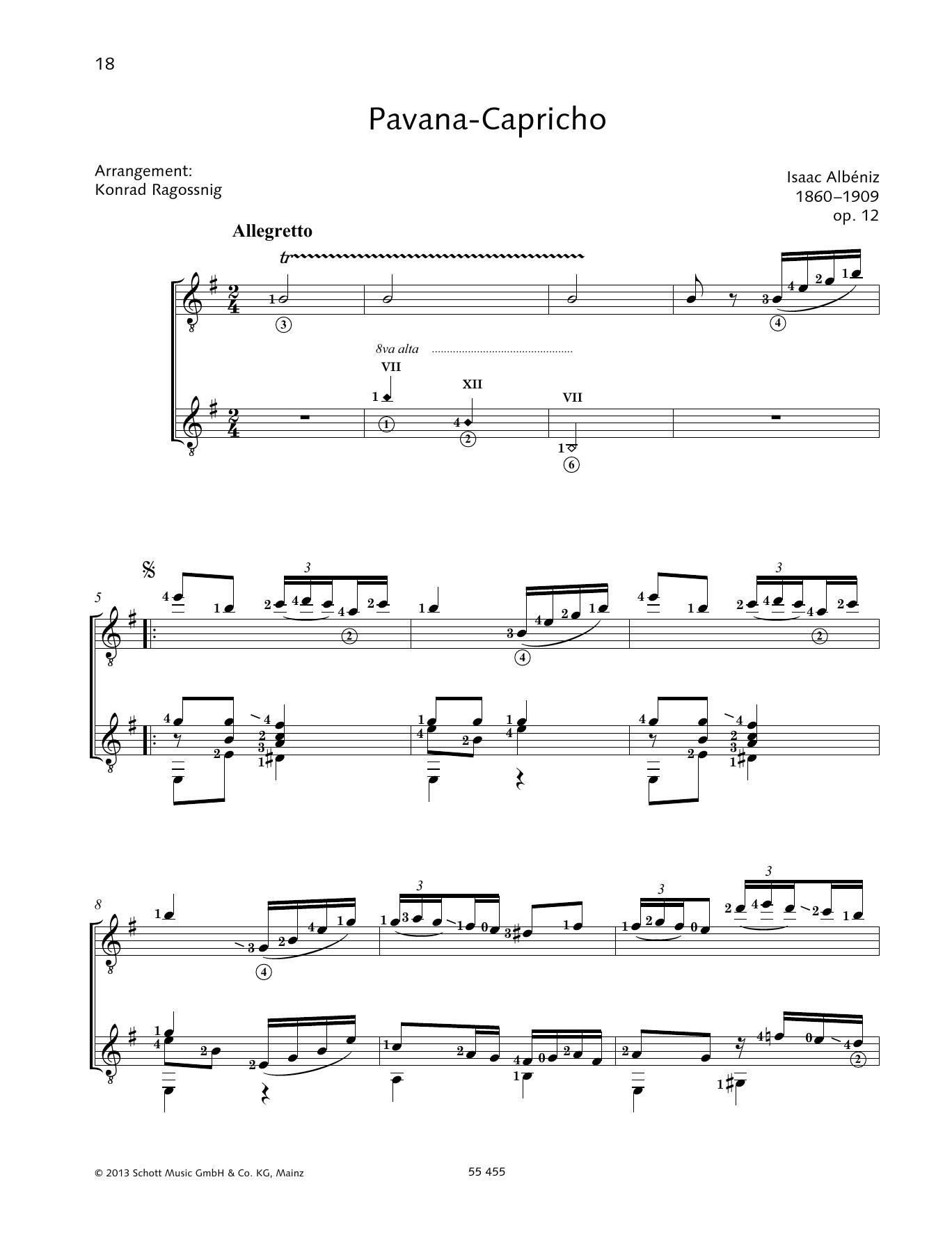 Pavana-Capricho - Full Score Sheet Music