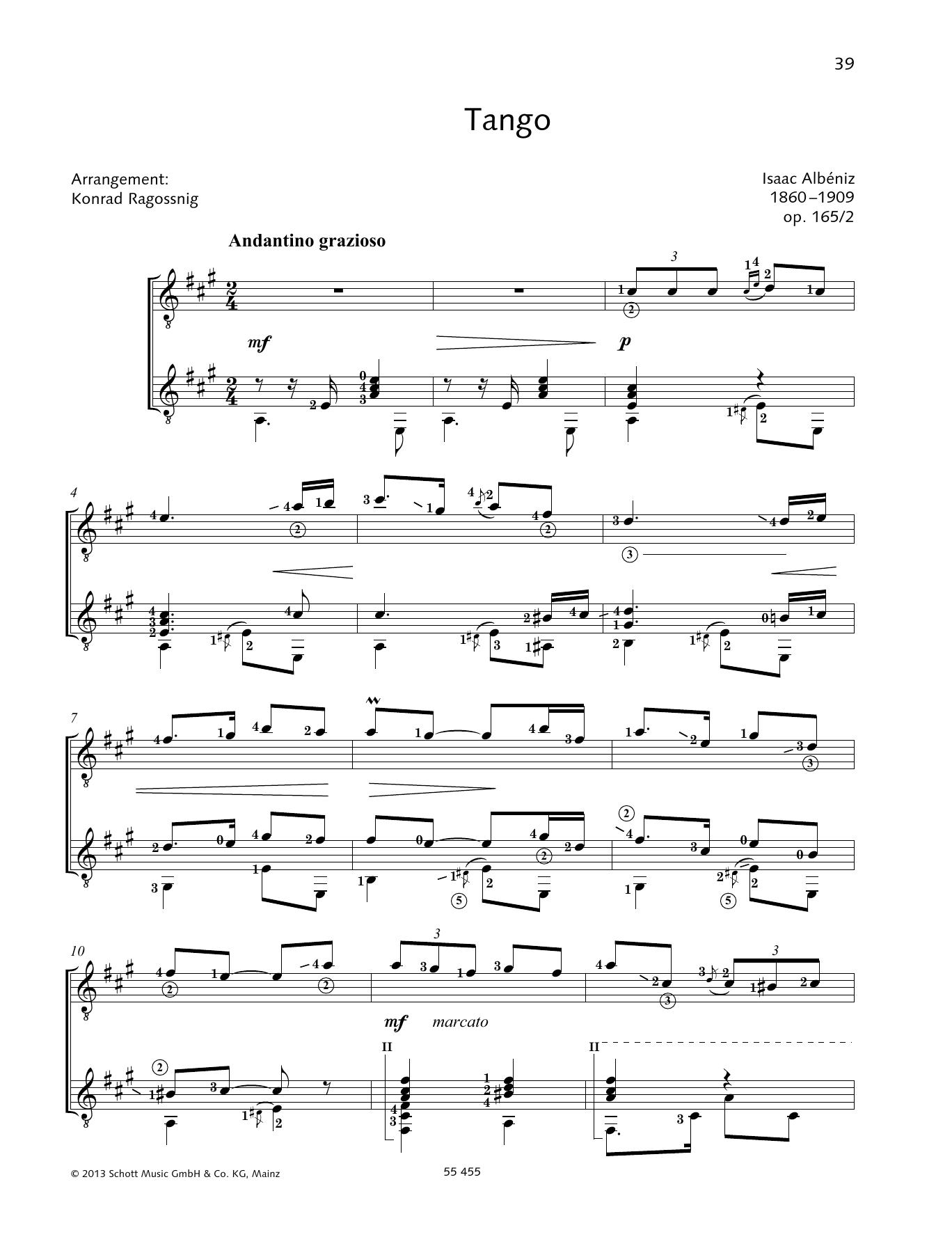 Tango - Full Score Sheet Music