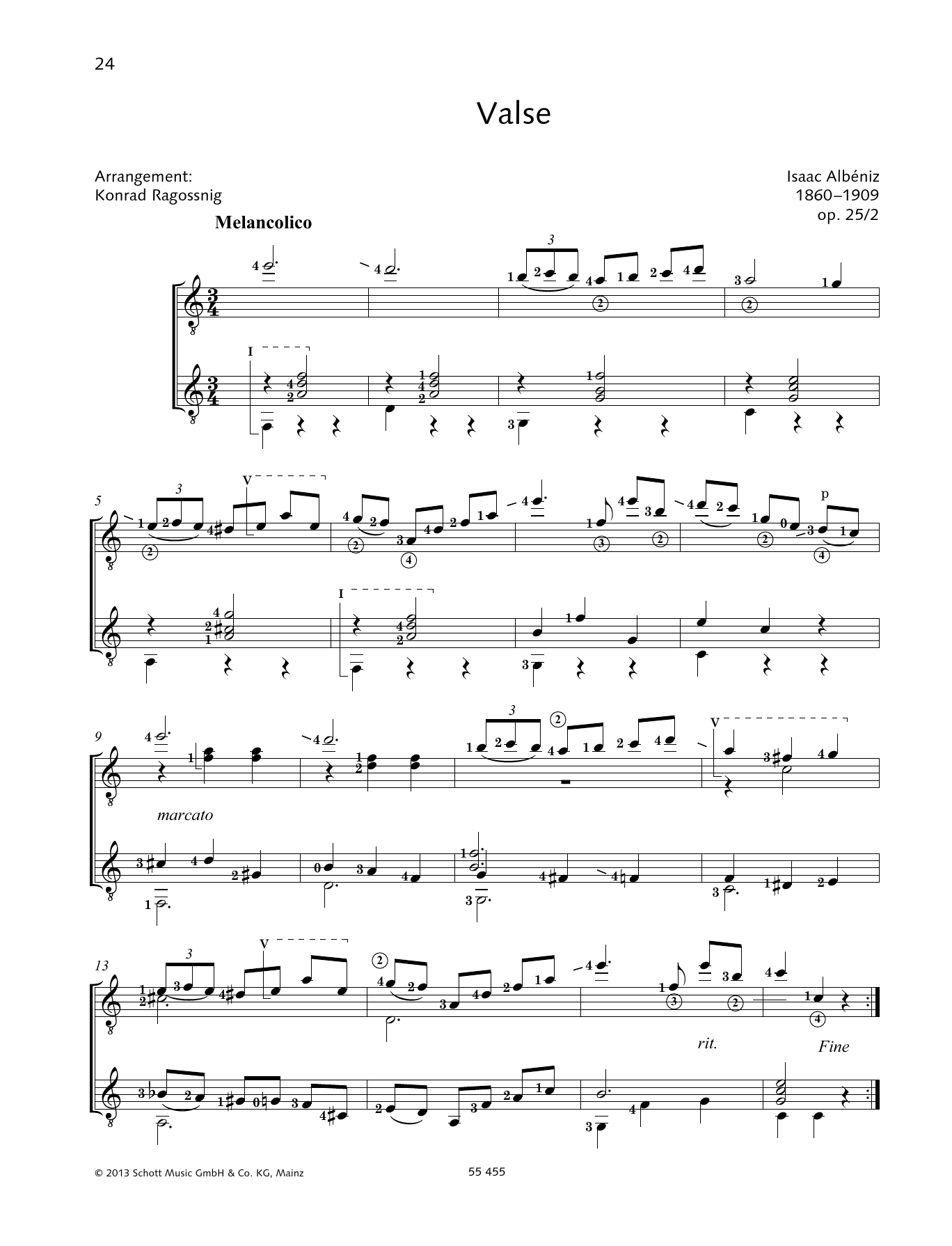Valse - Full Score Sheet Music