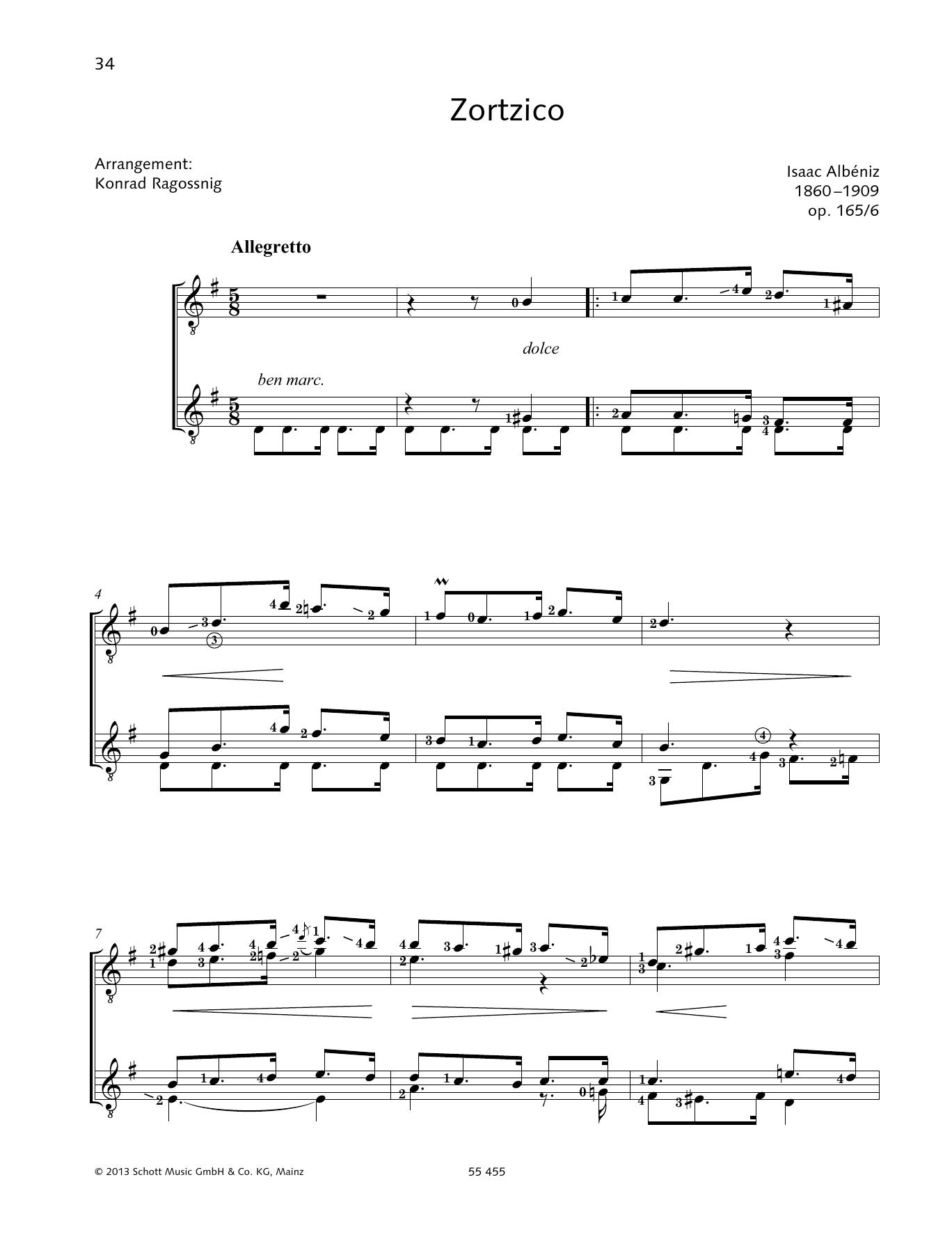 Zortzico - Full Score Sheet Music