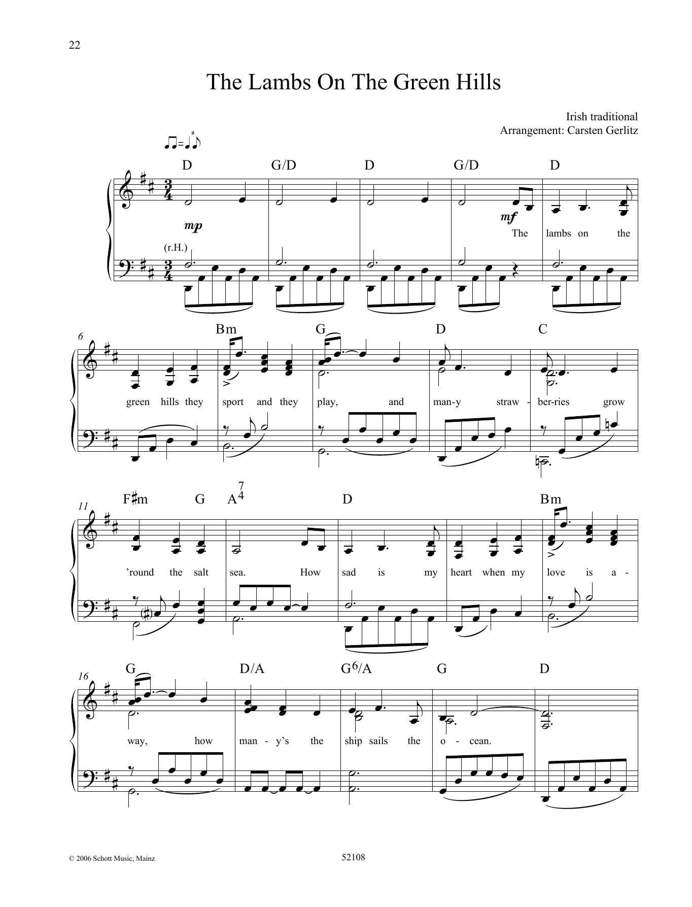 The Lambs On the Green Hills Sheet Music