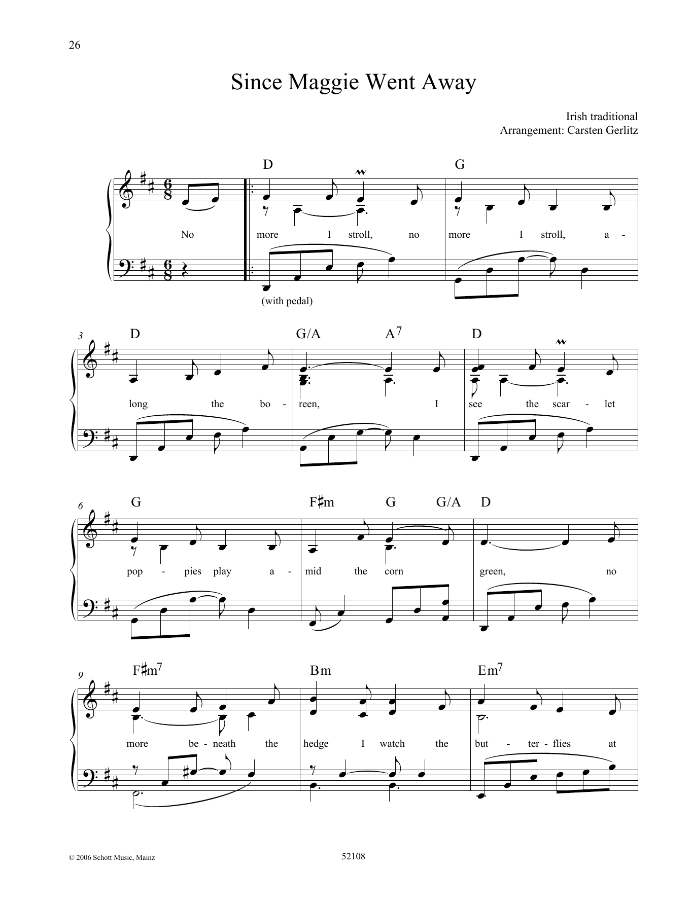 Since Maggie Went Away Sheet Music