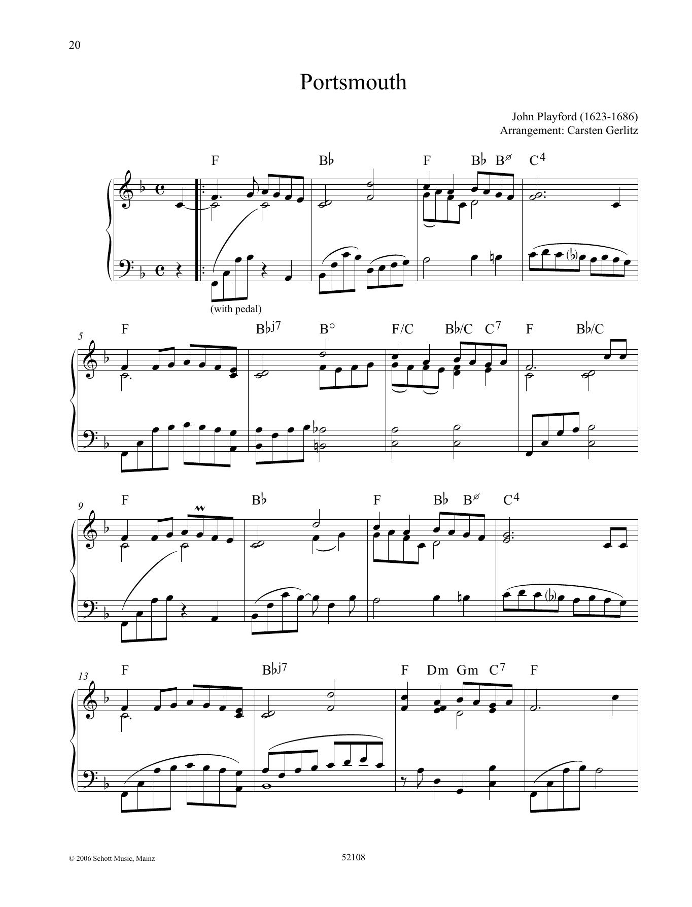 Portsmouth Sheet Music