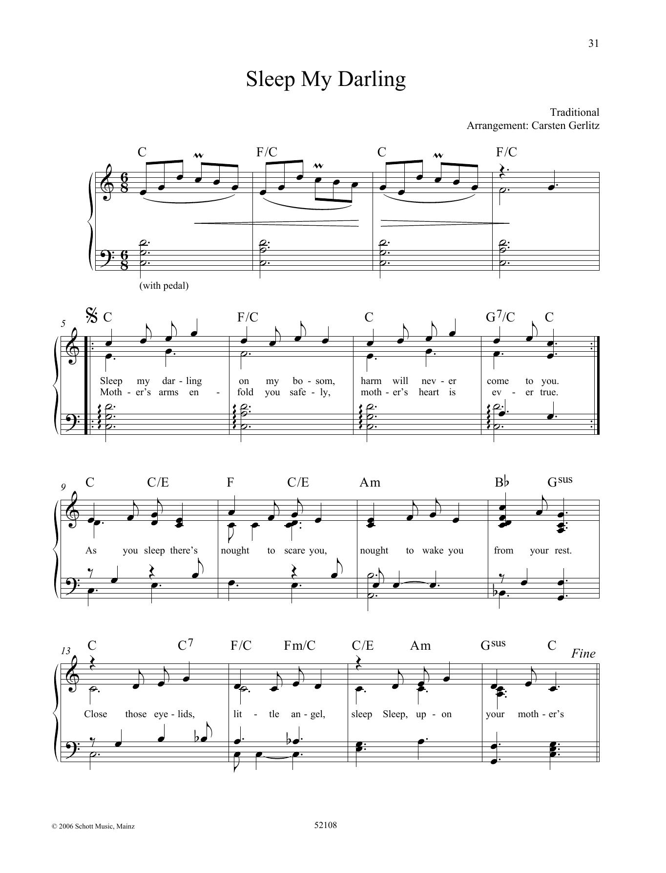 Sleep My Darling Sheet Music