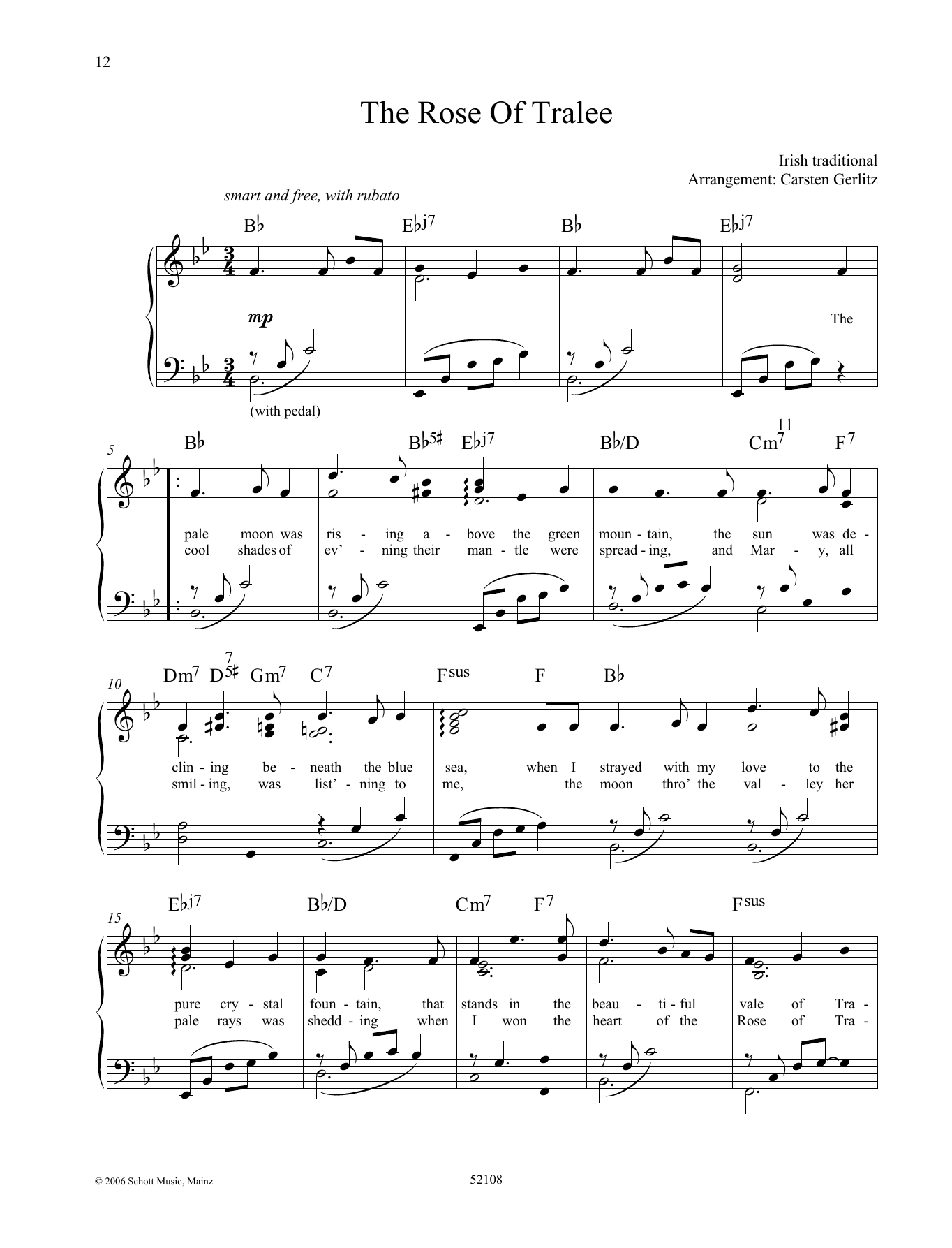 The Rose Of Tralee Sheet Music
