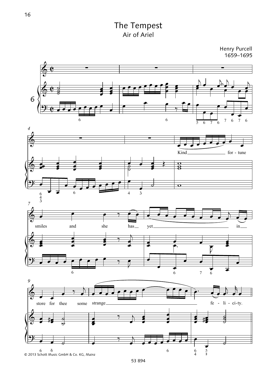 Kind fortune smiles Sheet Music