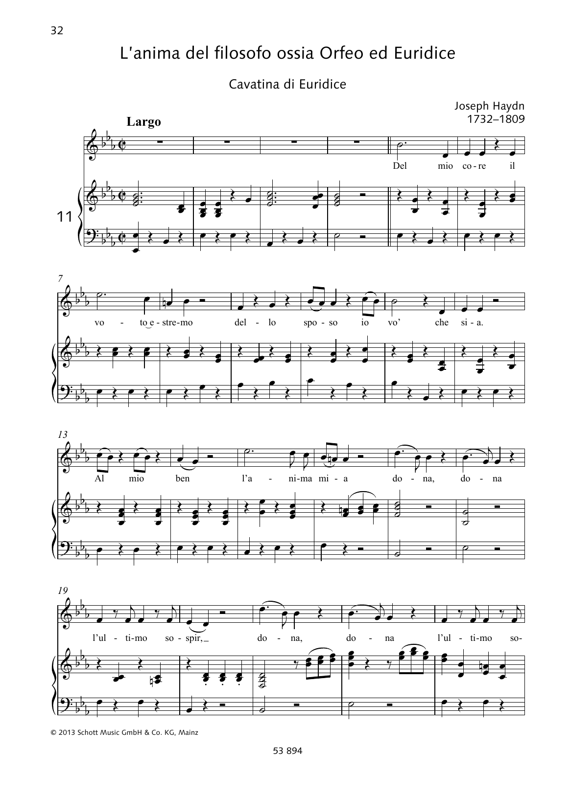 Del mio core Sheet Music