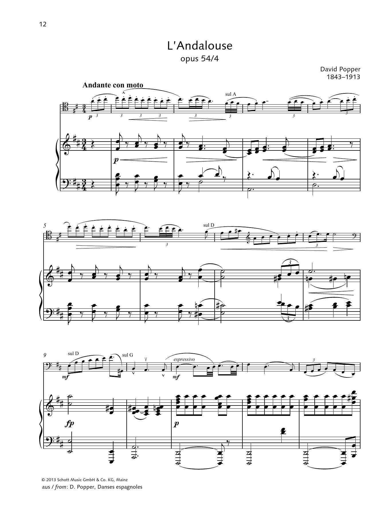 L'Andalouse Sheet Music