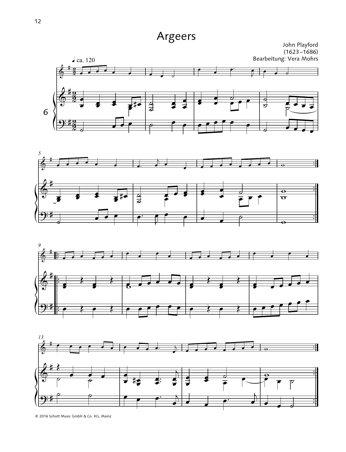 Argeers Sheet Music