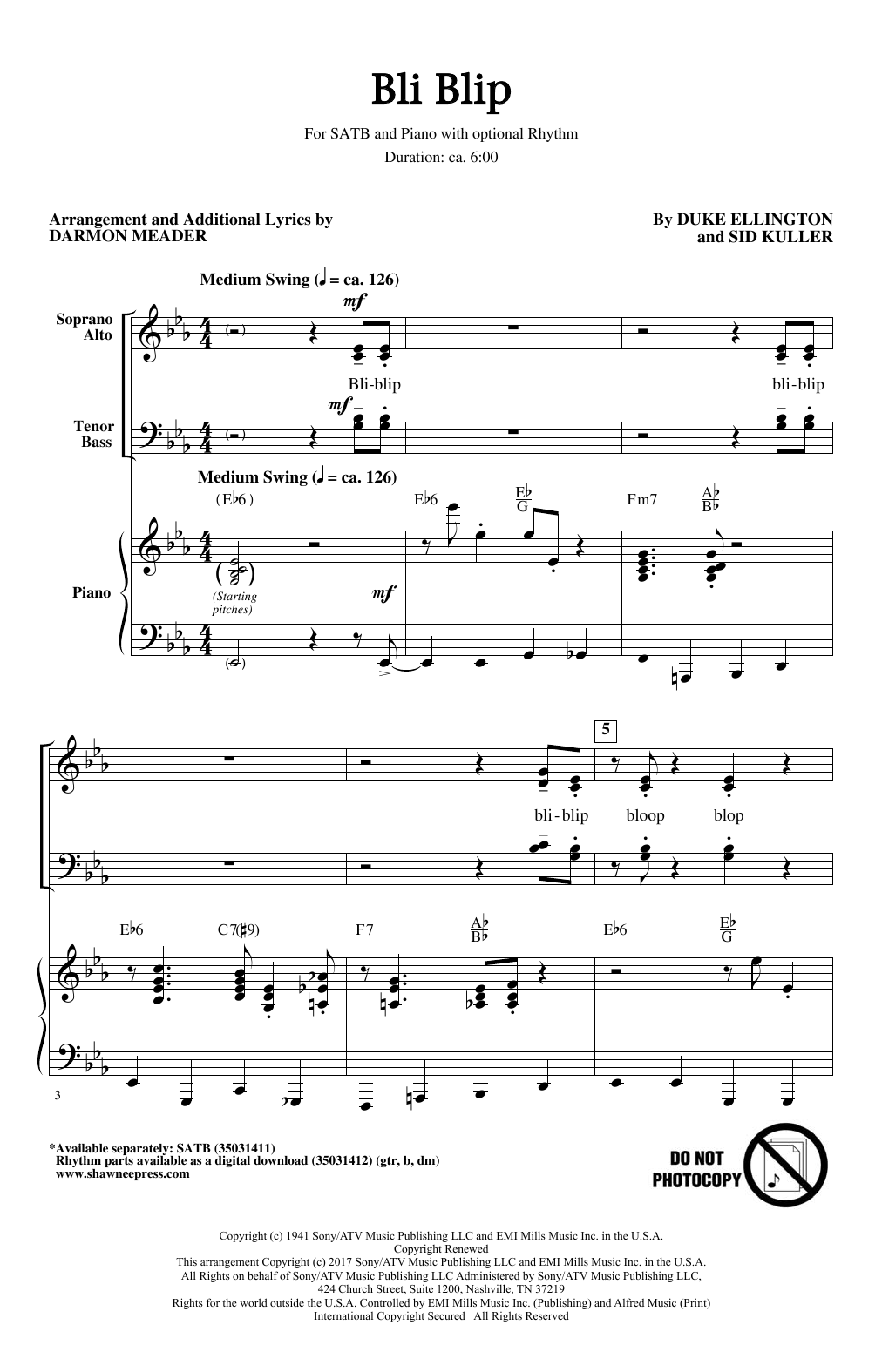 Bli-Blip (SATB Choir)