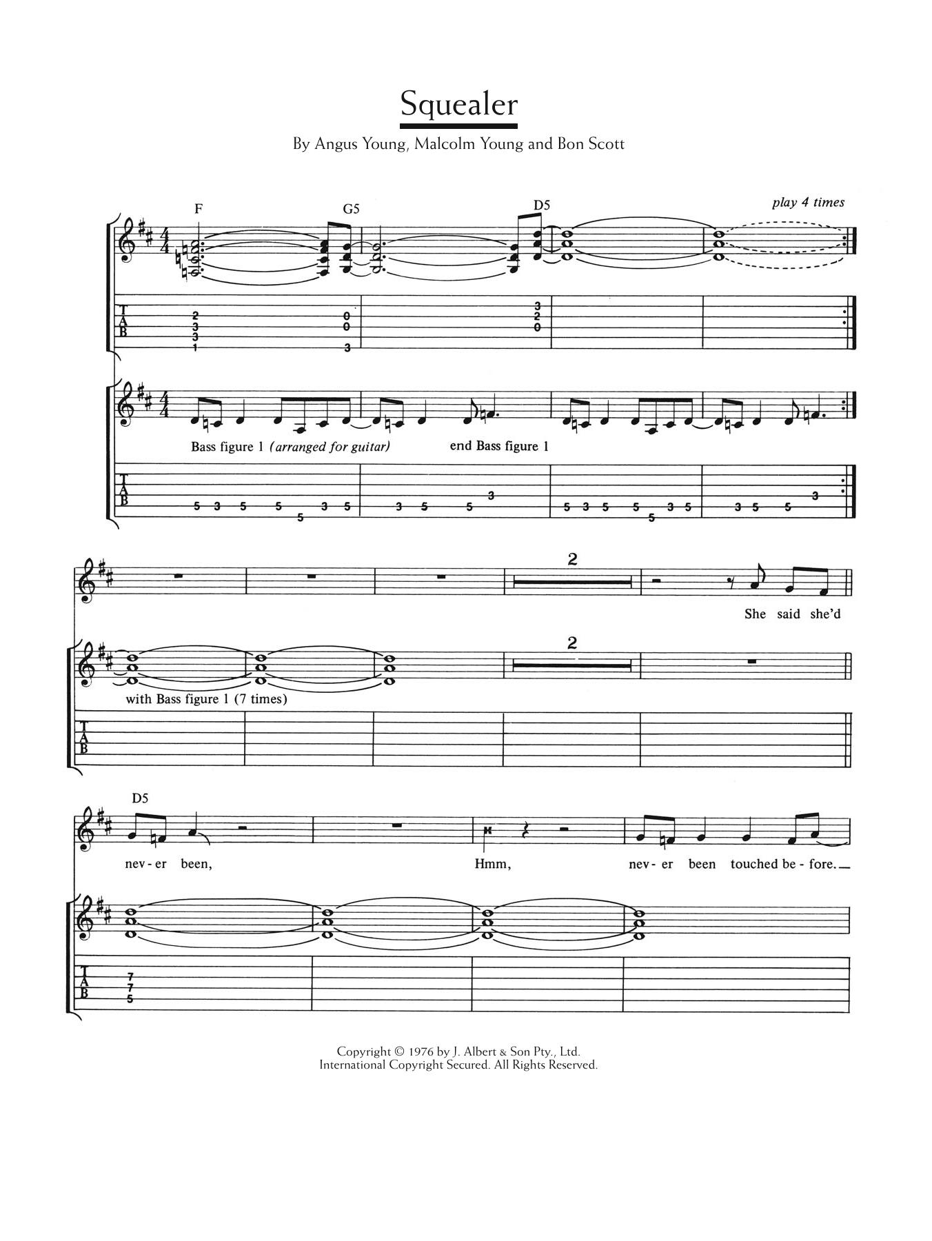 Squealer Sheet Music